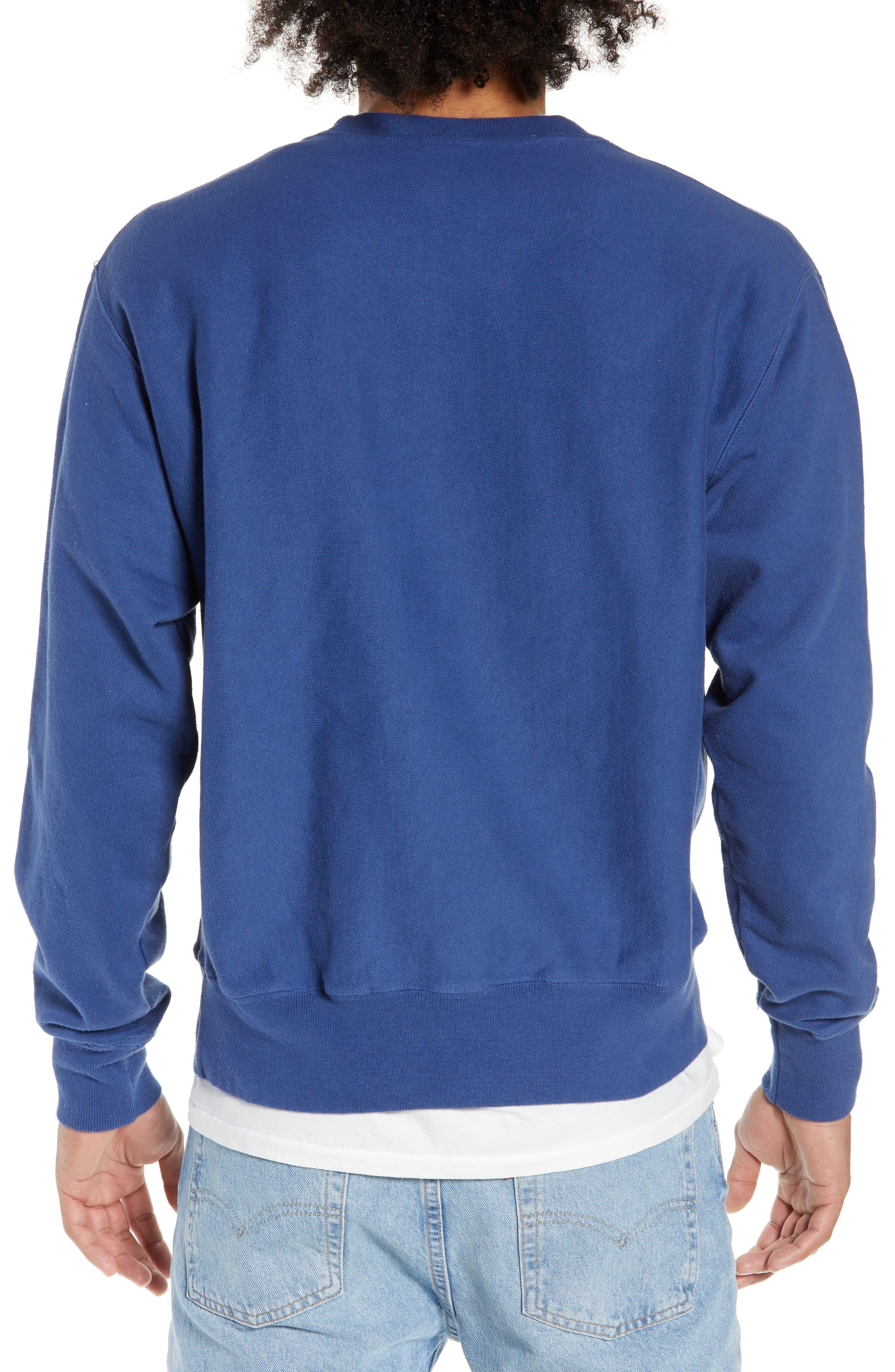 Reverse Weave<sup>®</sup> Snoopy Sweatshirt,                             Alternate thumbnail 2, color,                             DUTCH BLUE