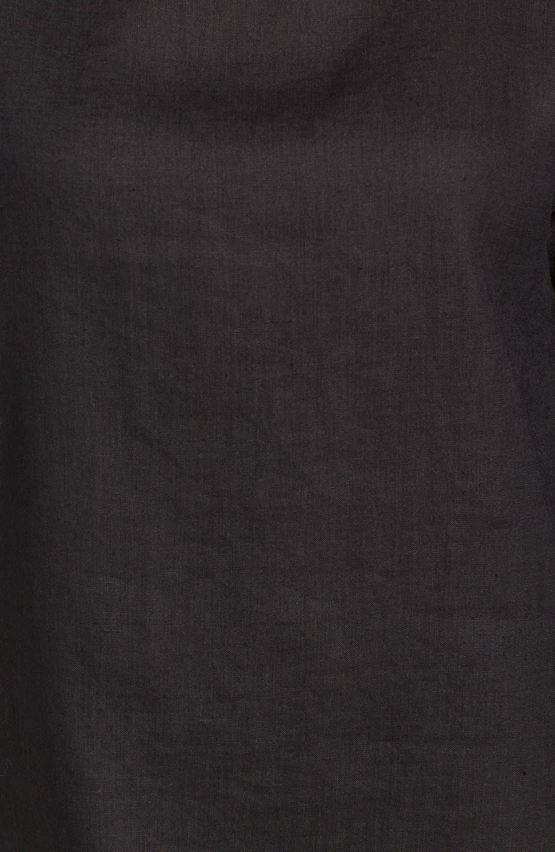 Organic Handkerchief Linen Top,                             Alternate thumbnail 10, color,                             001
