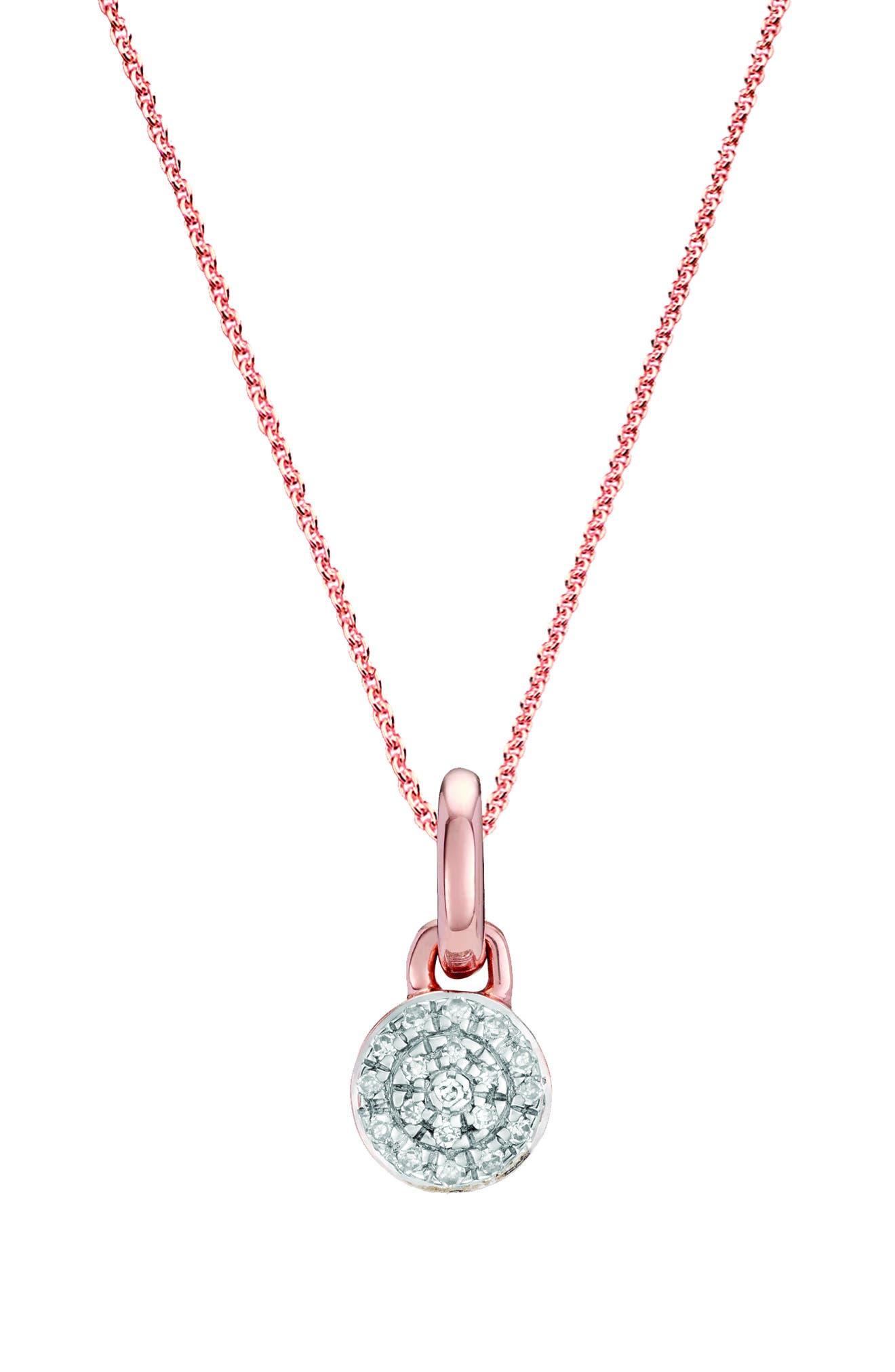 Fiji Mini Diamond Button Pendant Charm,                             Main thumbnail 1, color,                             650