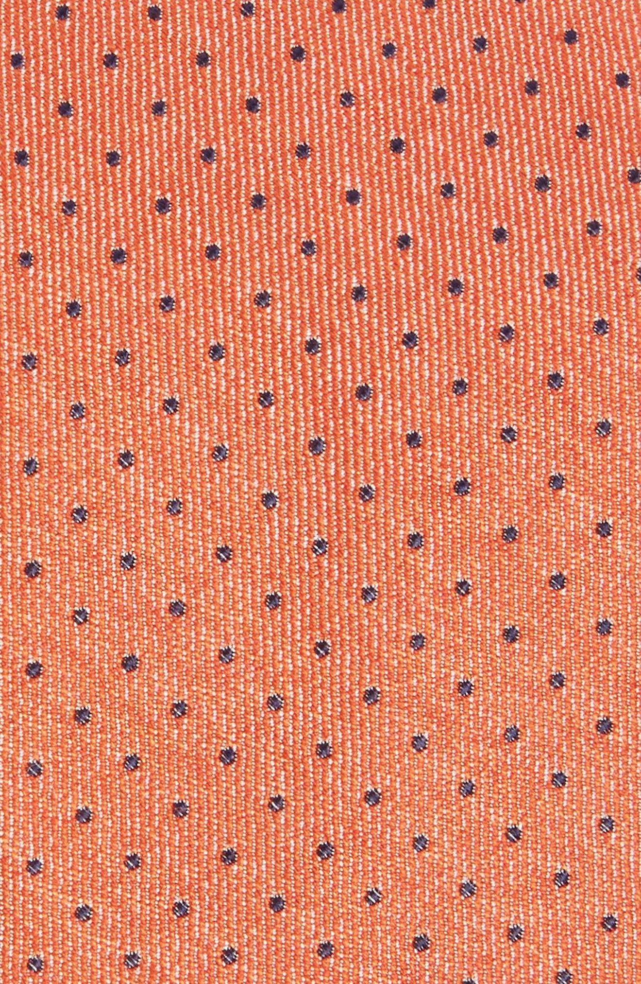 Brockton Dot Silk & Cotton Tie,                             Alternate thumbnail 4, color,