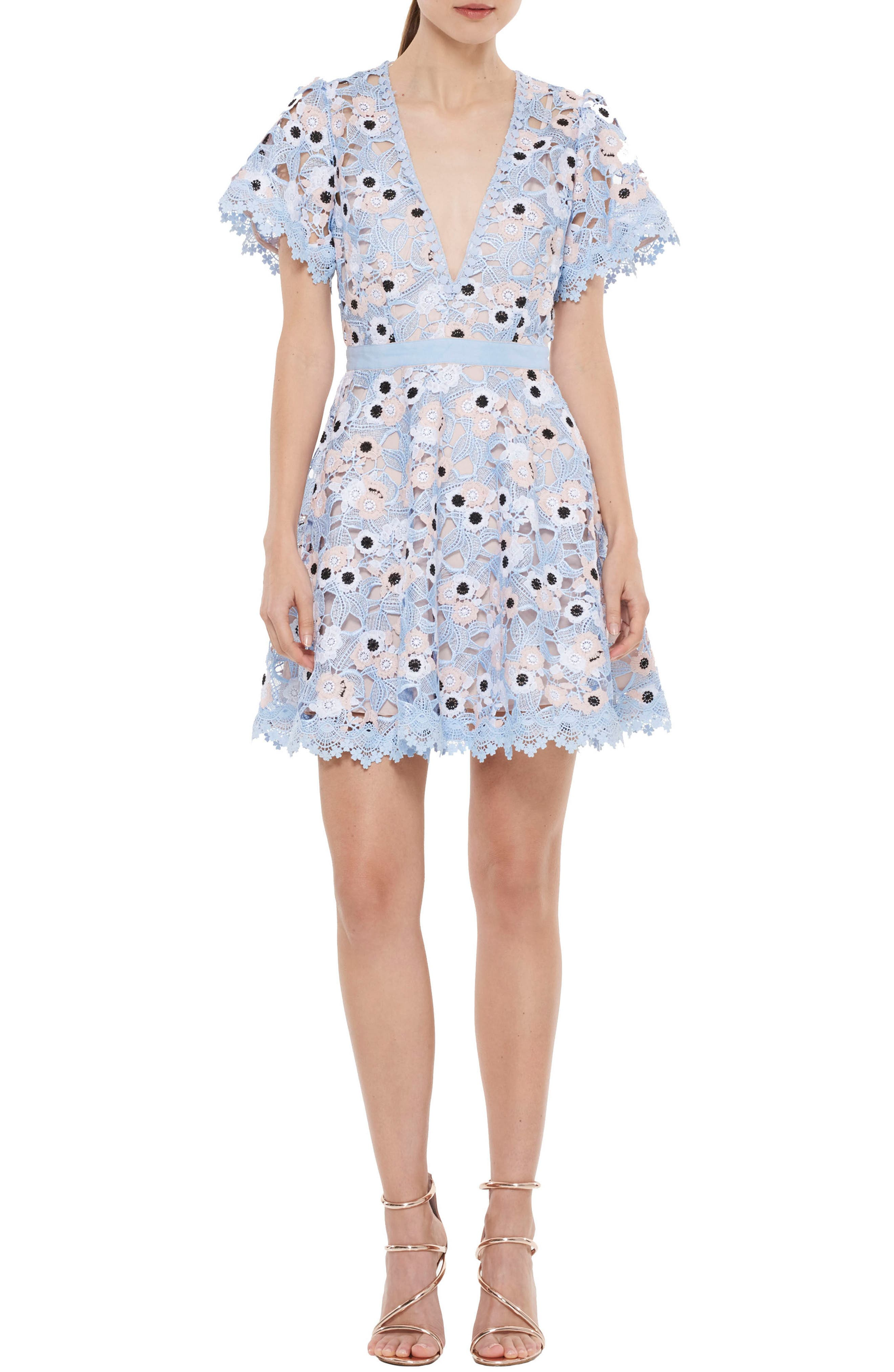 Infatuation Crochet Dress,                             Main thumbnail 1, color,                             450