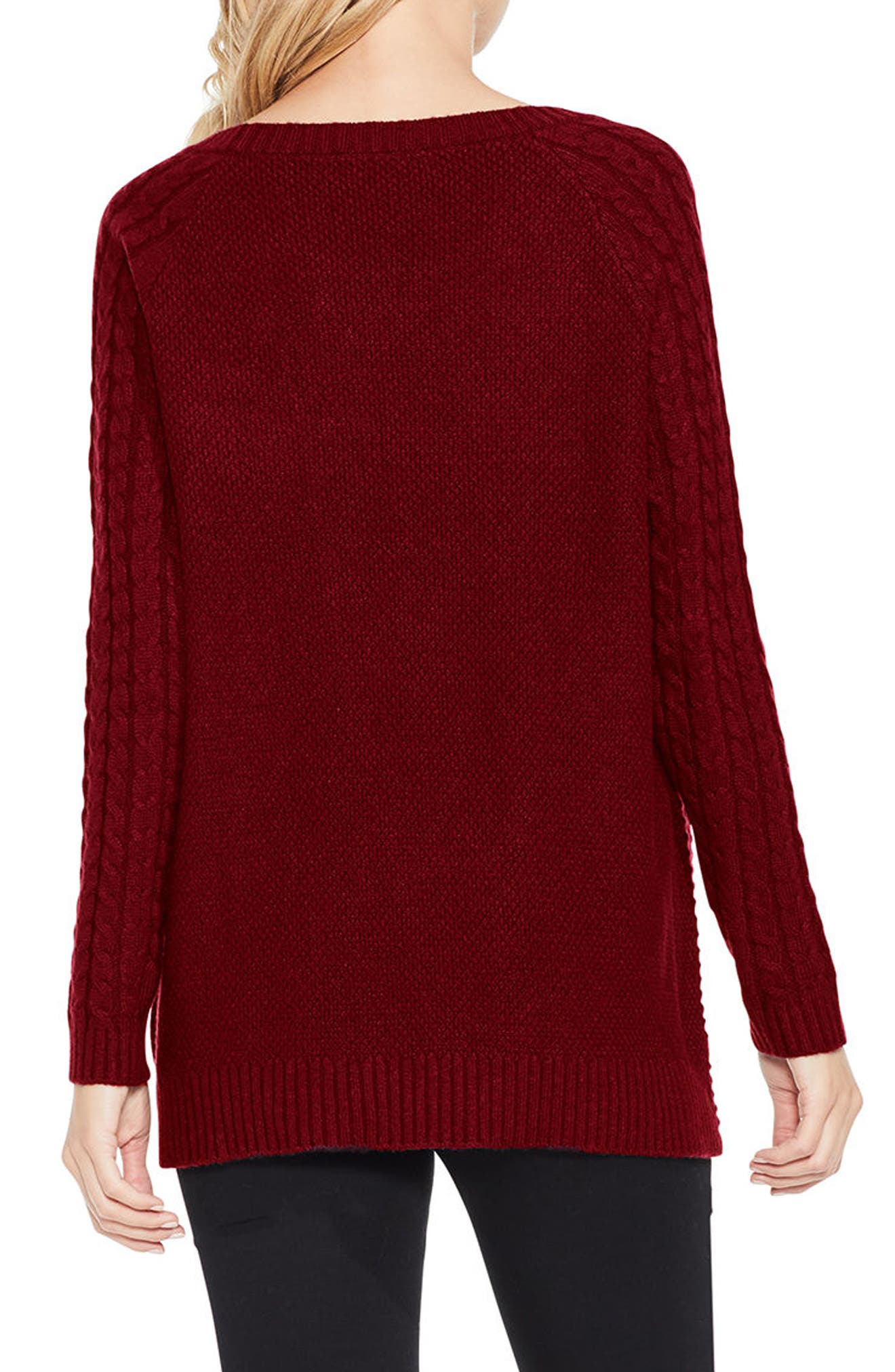 Mixed Stitch Sweater,                             Alternate thumbnail 9, color,