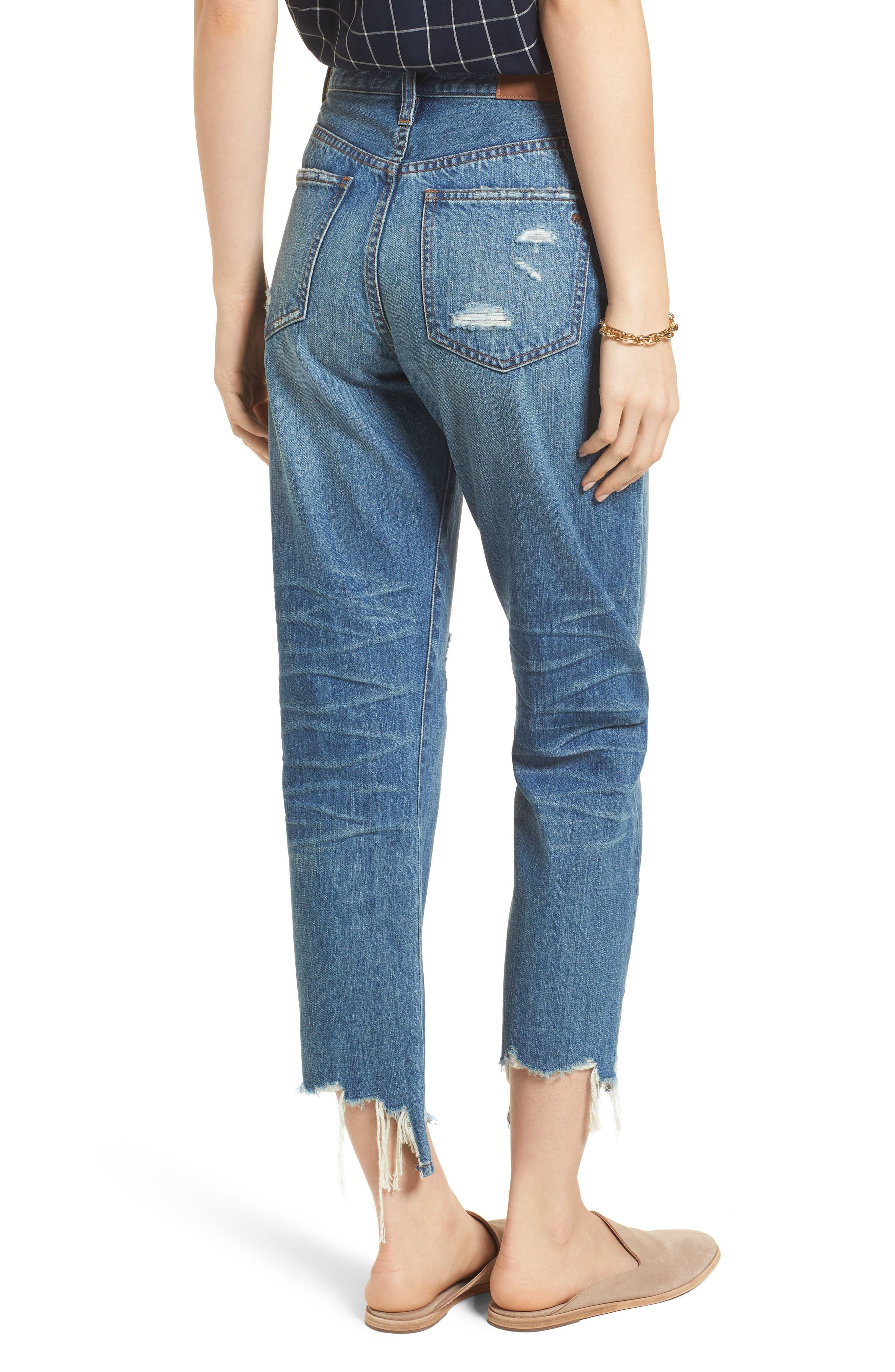 Perfect Summer Ripped High Waist Ankle Jeans,                             Alternate thumbnail 2, color,                             400