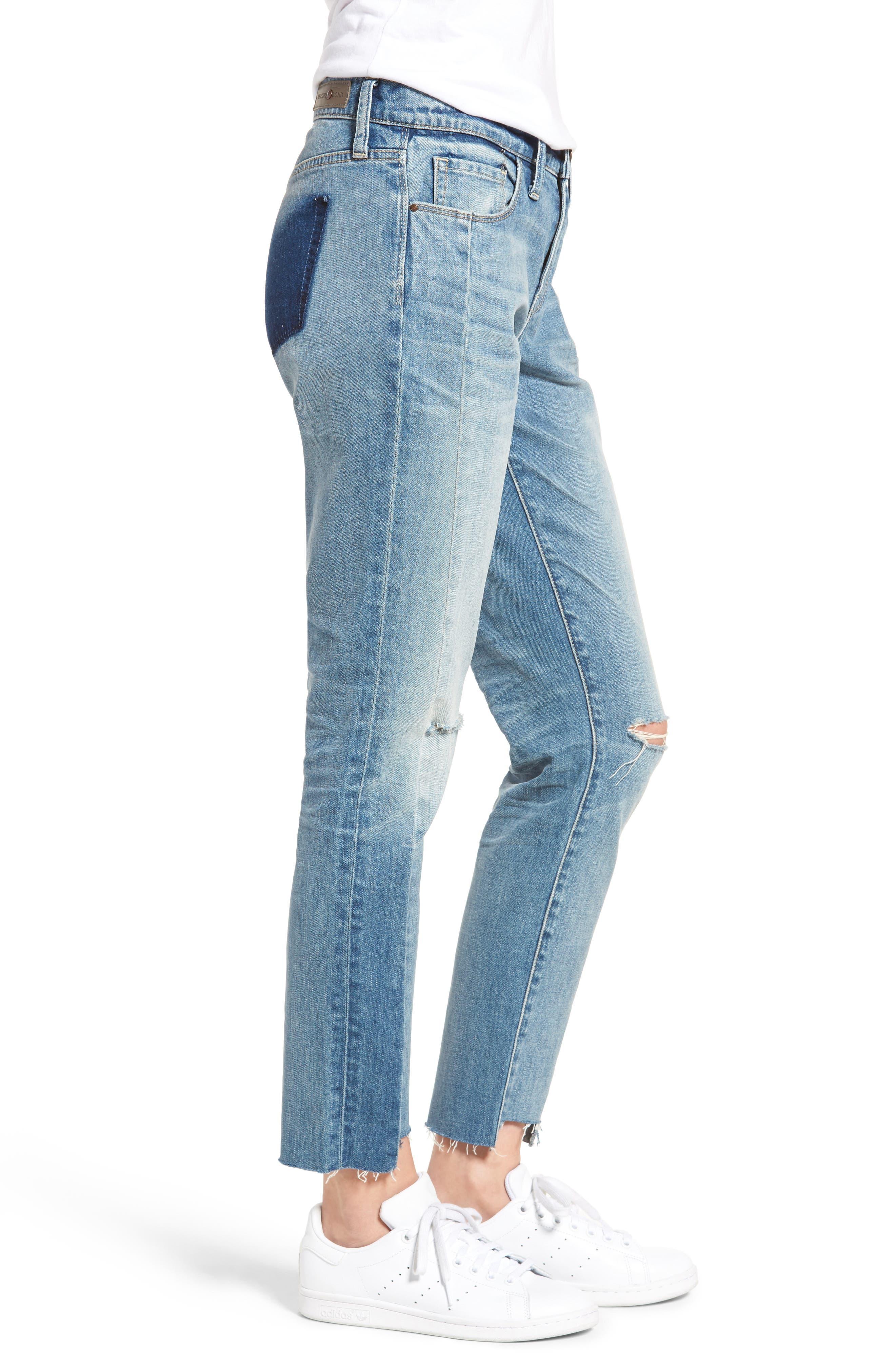 Skinny Boyfriend Jeans,                             Alternate thumbnail 3, color,                             400