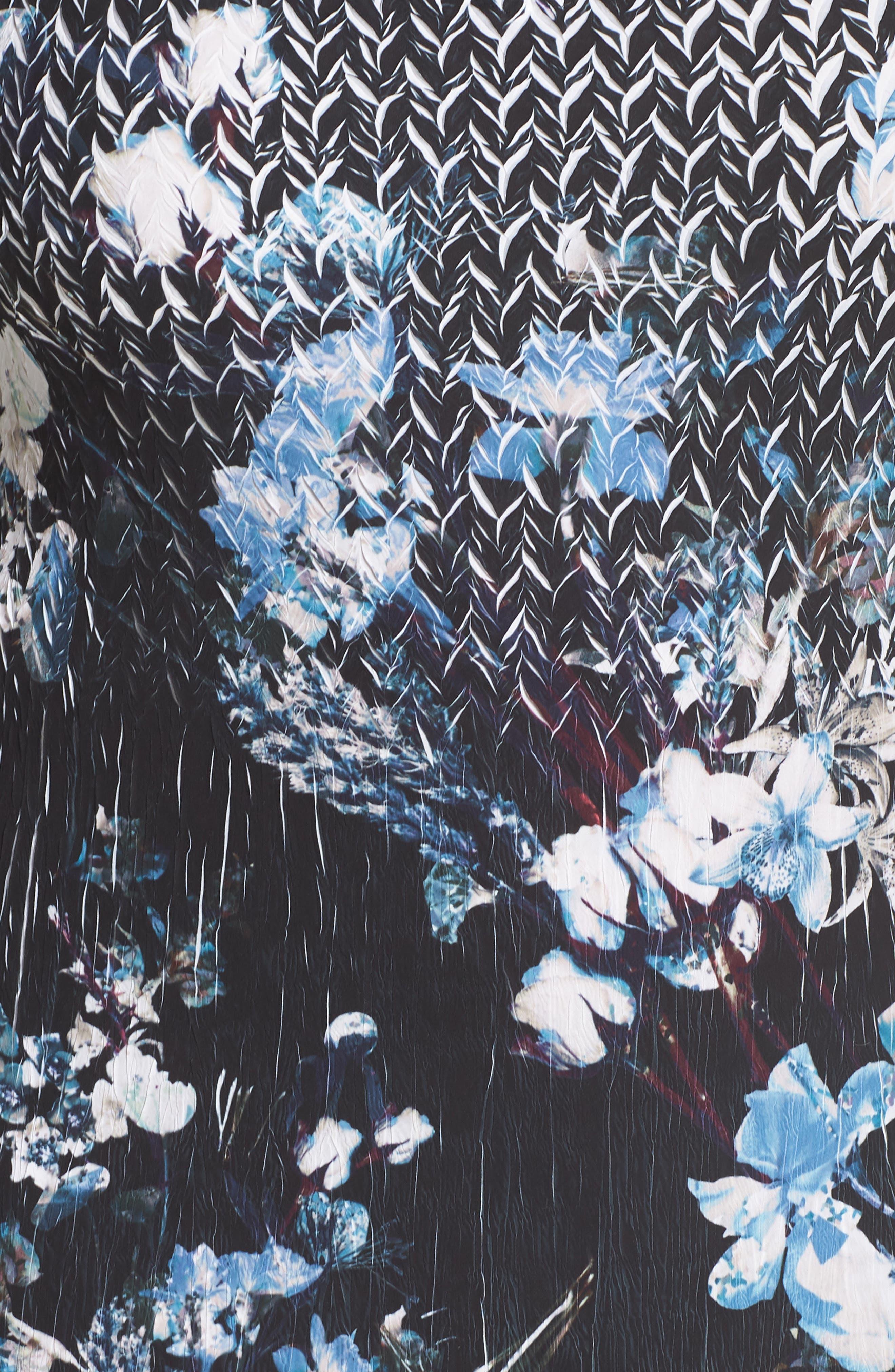 Floral Georgette & Chiffon A-Line Dress,                             Alternate thumbnail 6, color,                             002