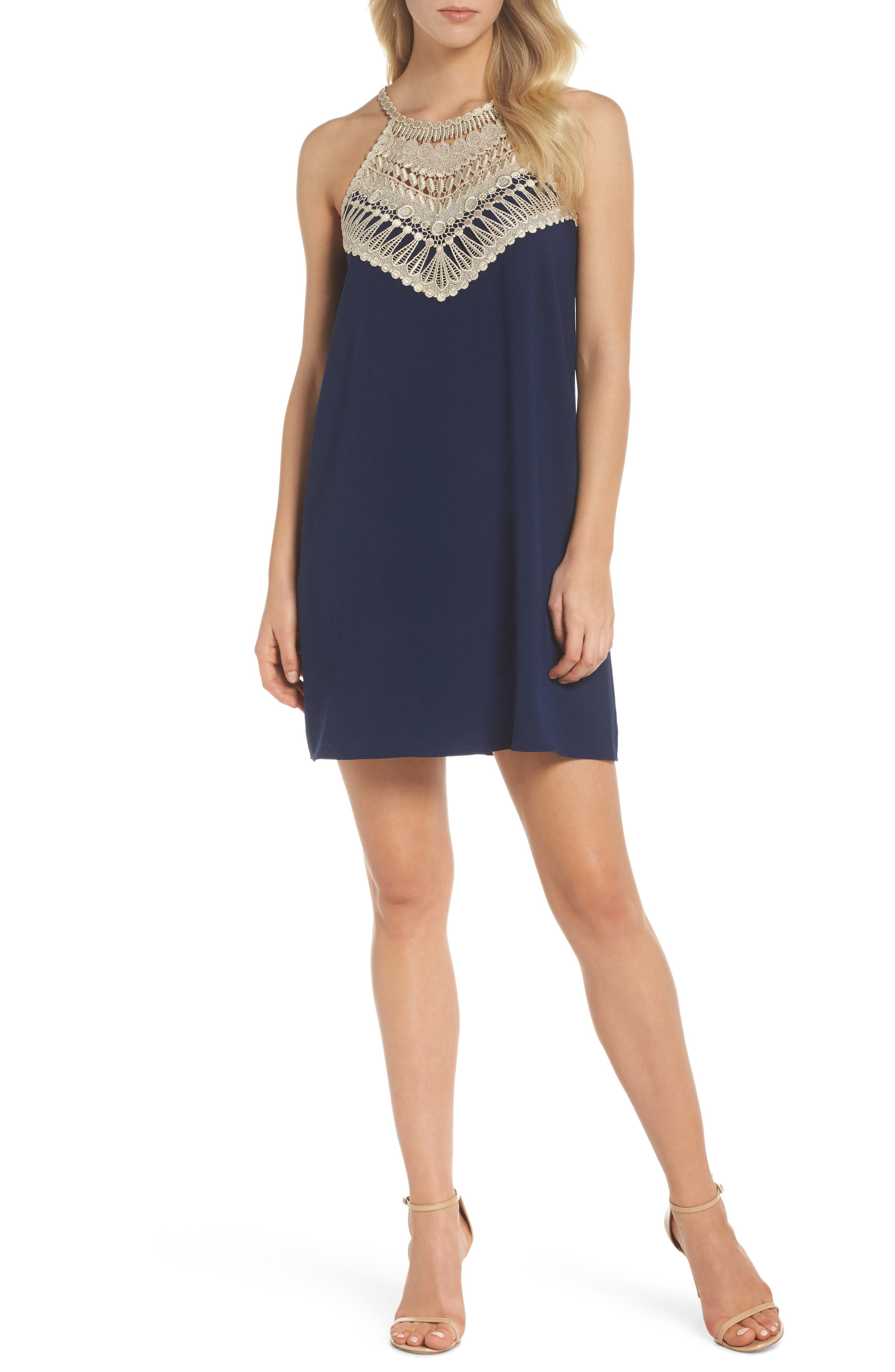 Pearl Soft Sleeveless Shift Dress,                         Main,                         color, 408