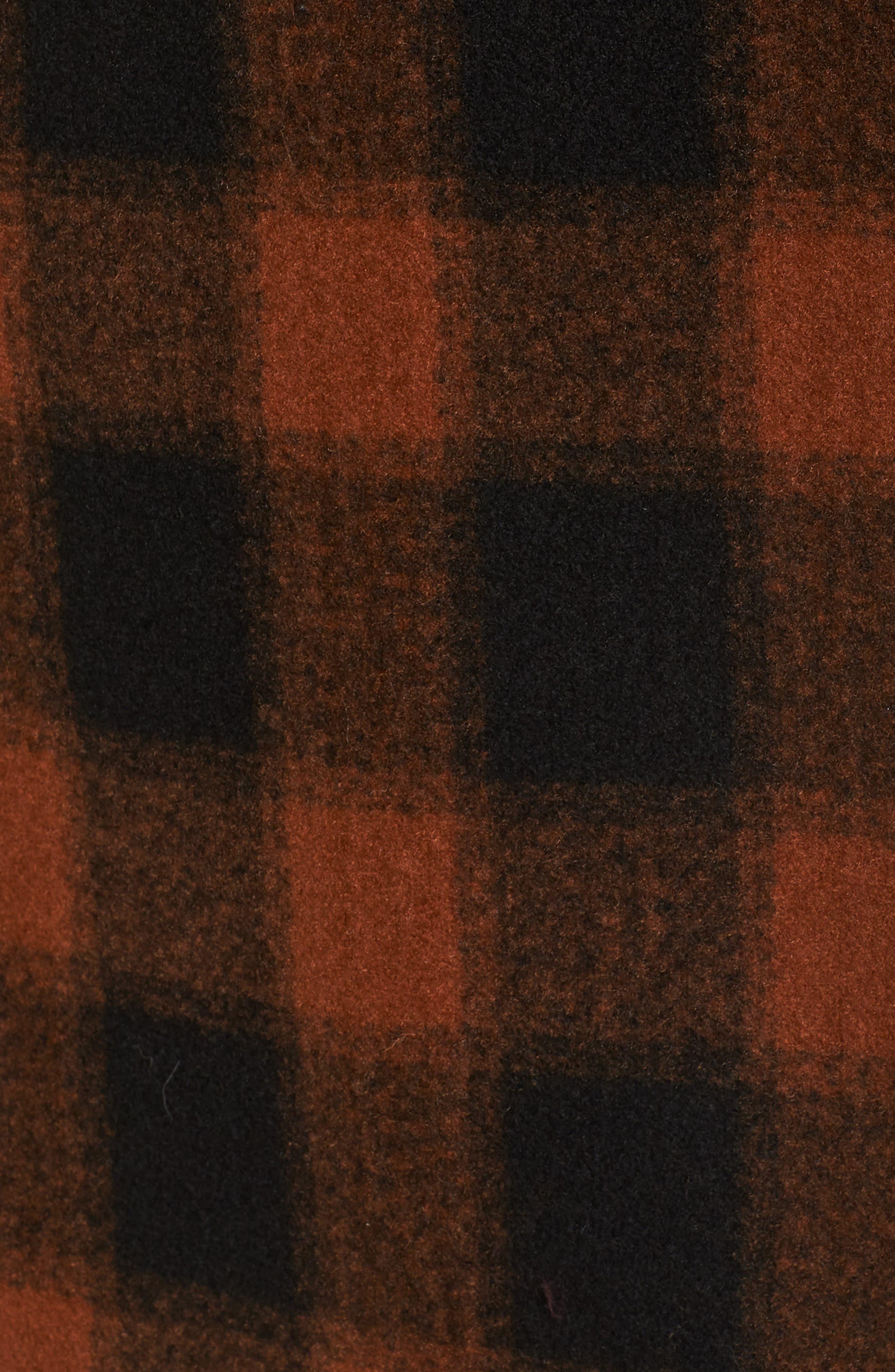 Oversize Boiled Wool Coat,                             Alternate thumbnail 6, color,                             PLAID