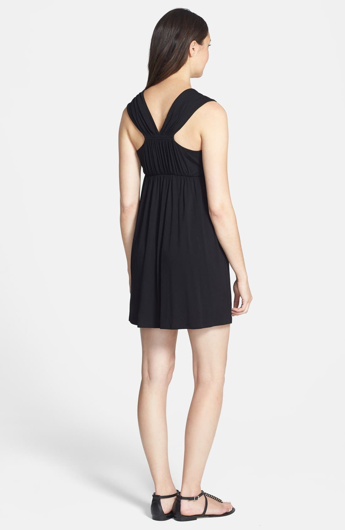 'Vanessa' Maternity Dress,                             Alternate thumbnail 3, color,                             BLACK