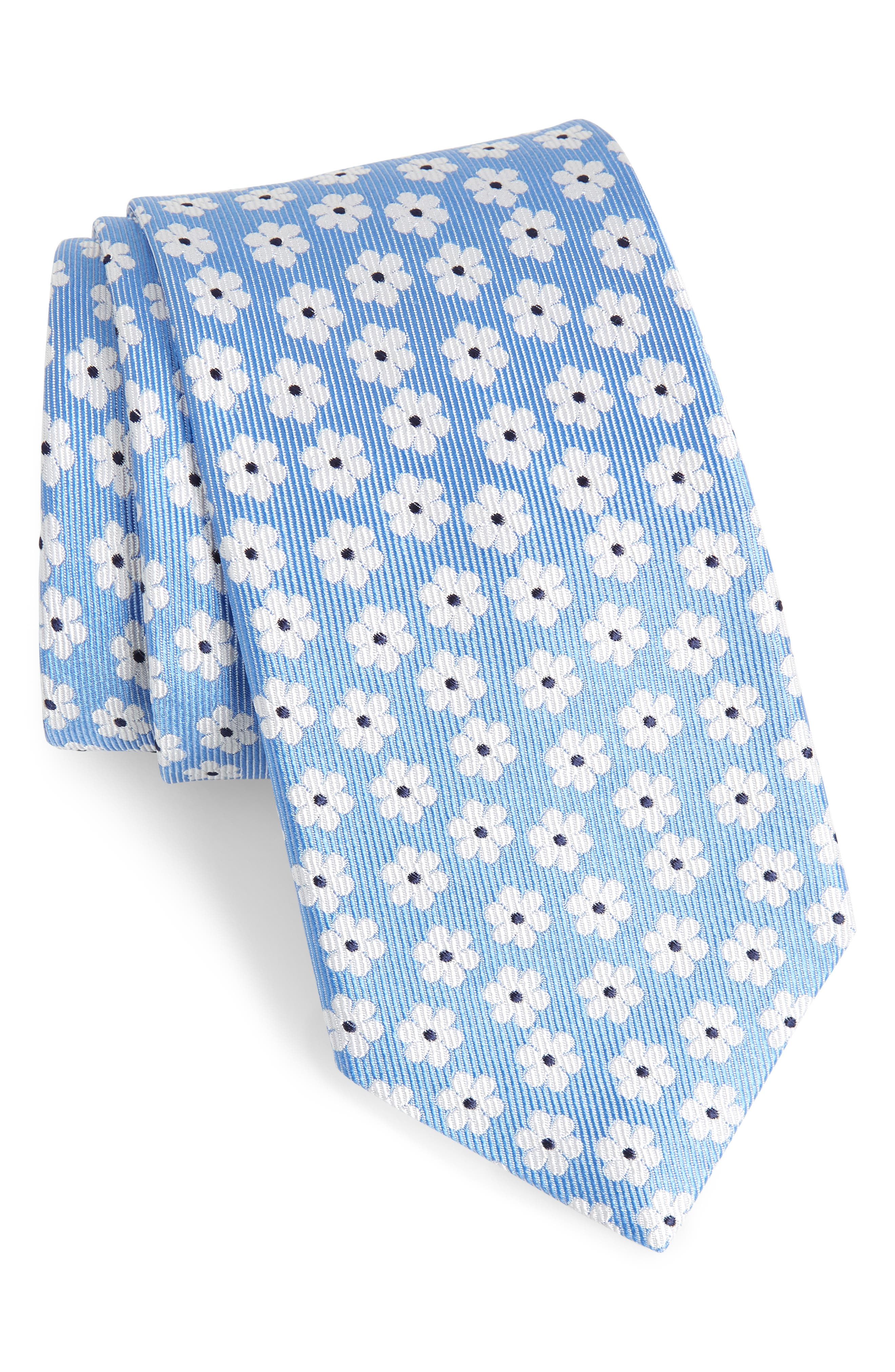 Baywater Floral Silk Tie,                         Main,                         color, 400