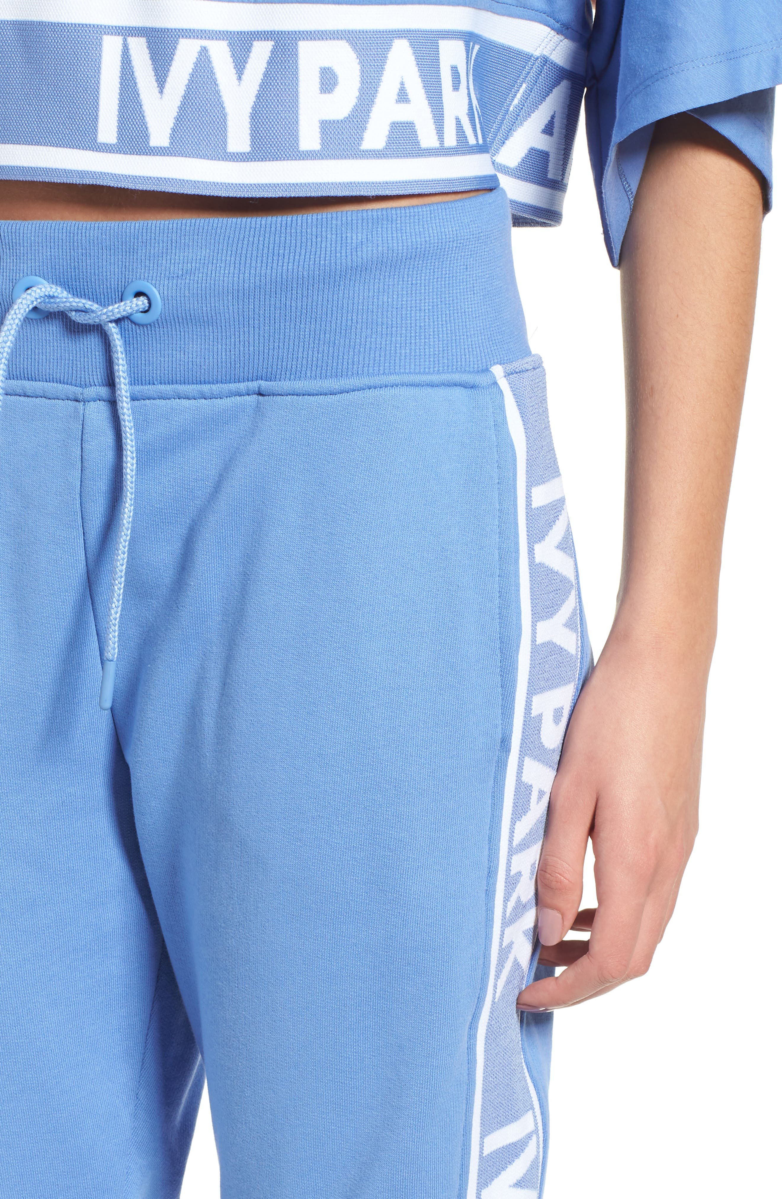 Logo Tape Jogger Pants,                             Alternate thumbnail 4, color,                             WEDGEWOOD BLUE
