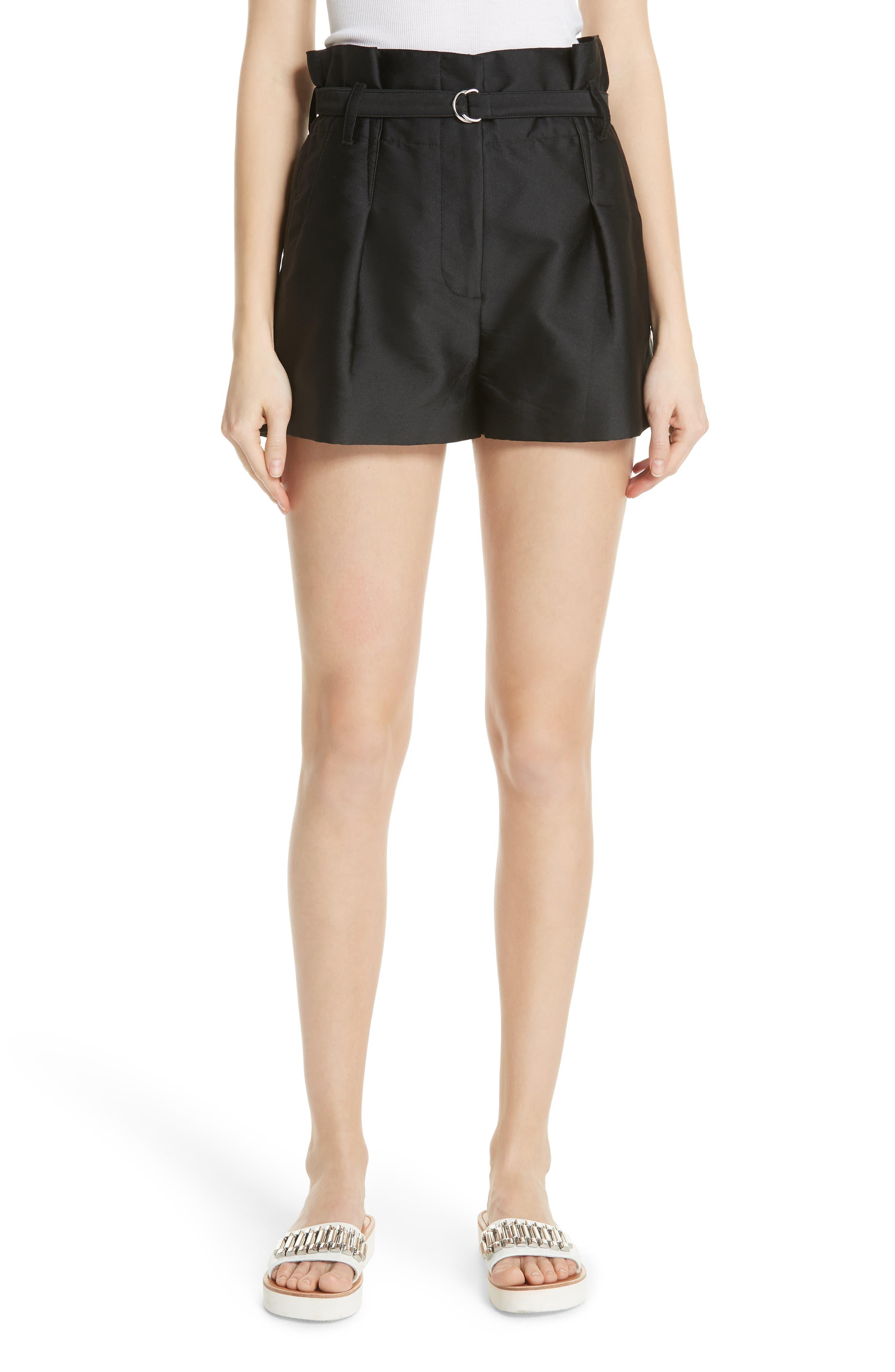 Origami Satin Shorts,                         Main,                         color, 001