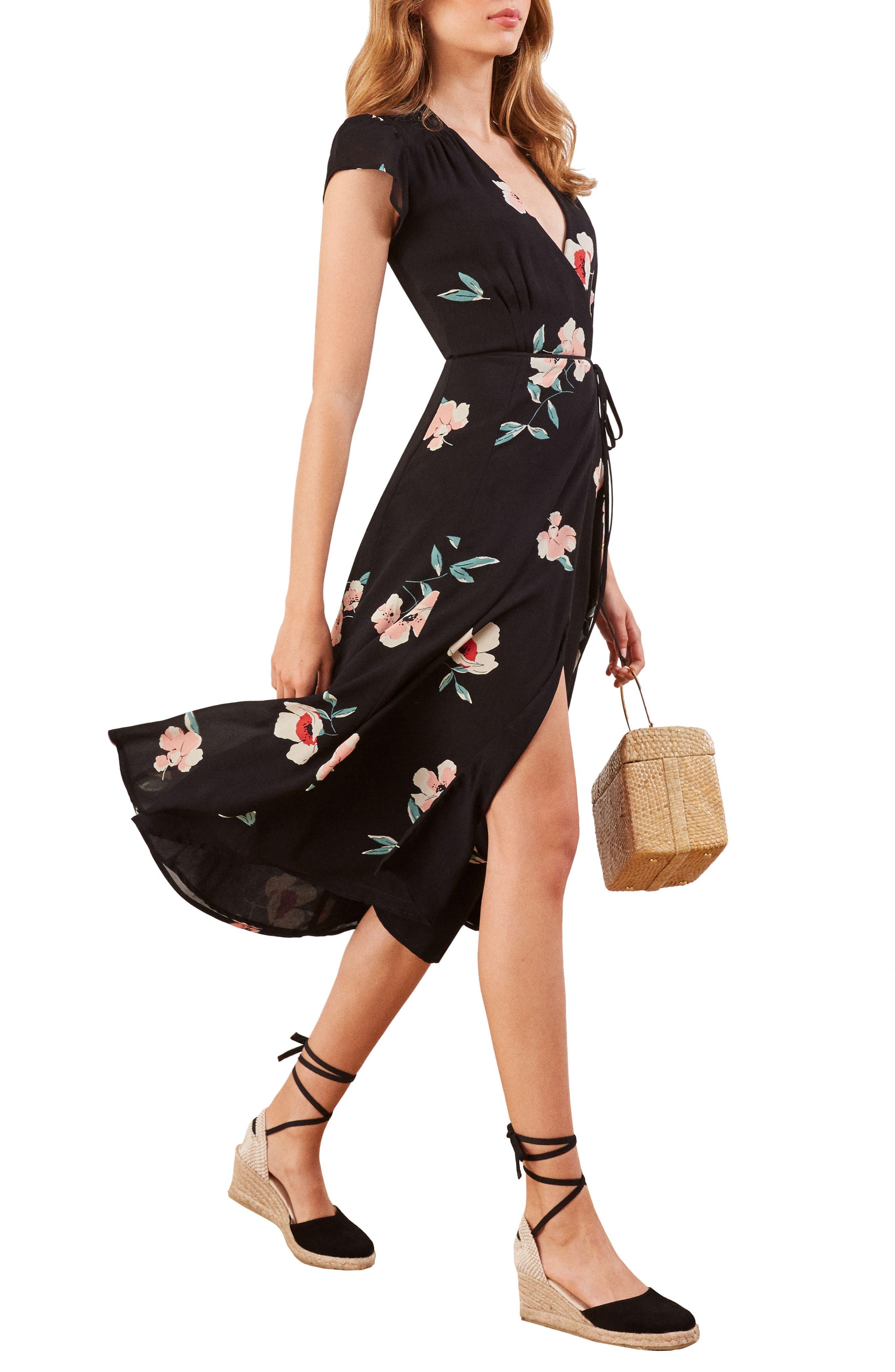 Carina Midi Wrap Dress,                             Main thumbnail 1, color,                             ORNAMENT