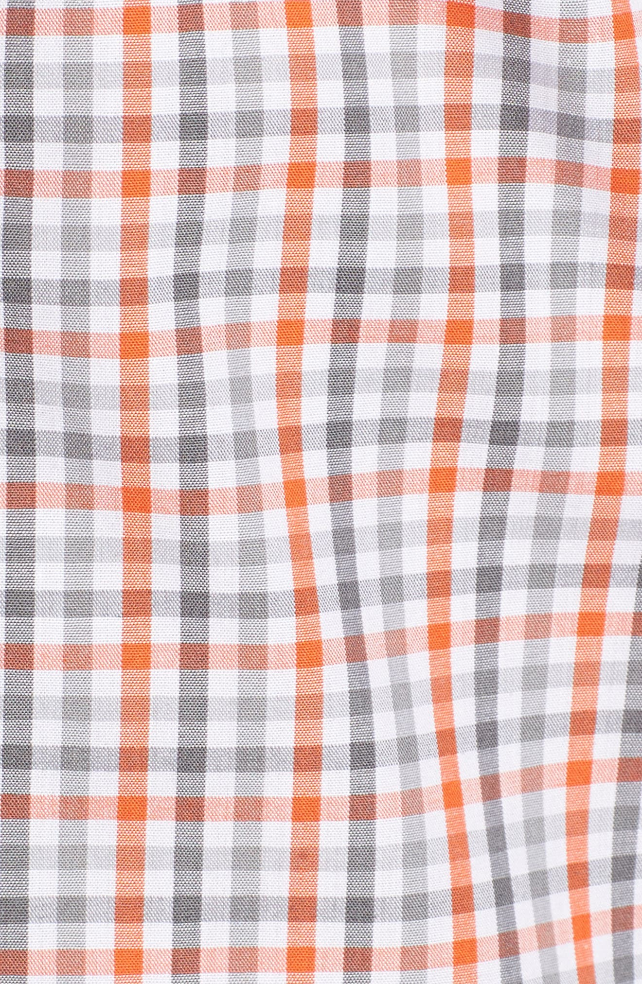 Chicago Bears - Gilman Regular Fit Plaid Sport Shirt,                             Alternate thumbnail 5, color,                             COLLEGE ORANGE