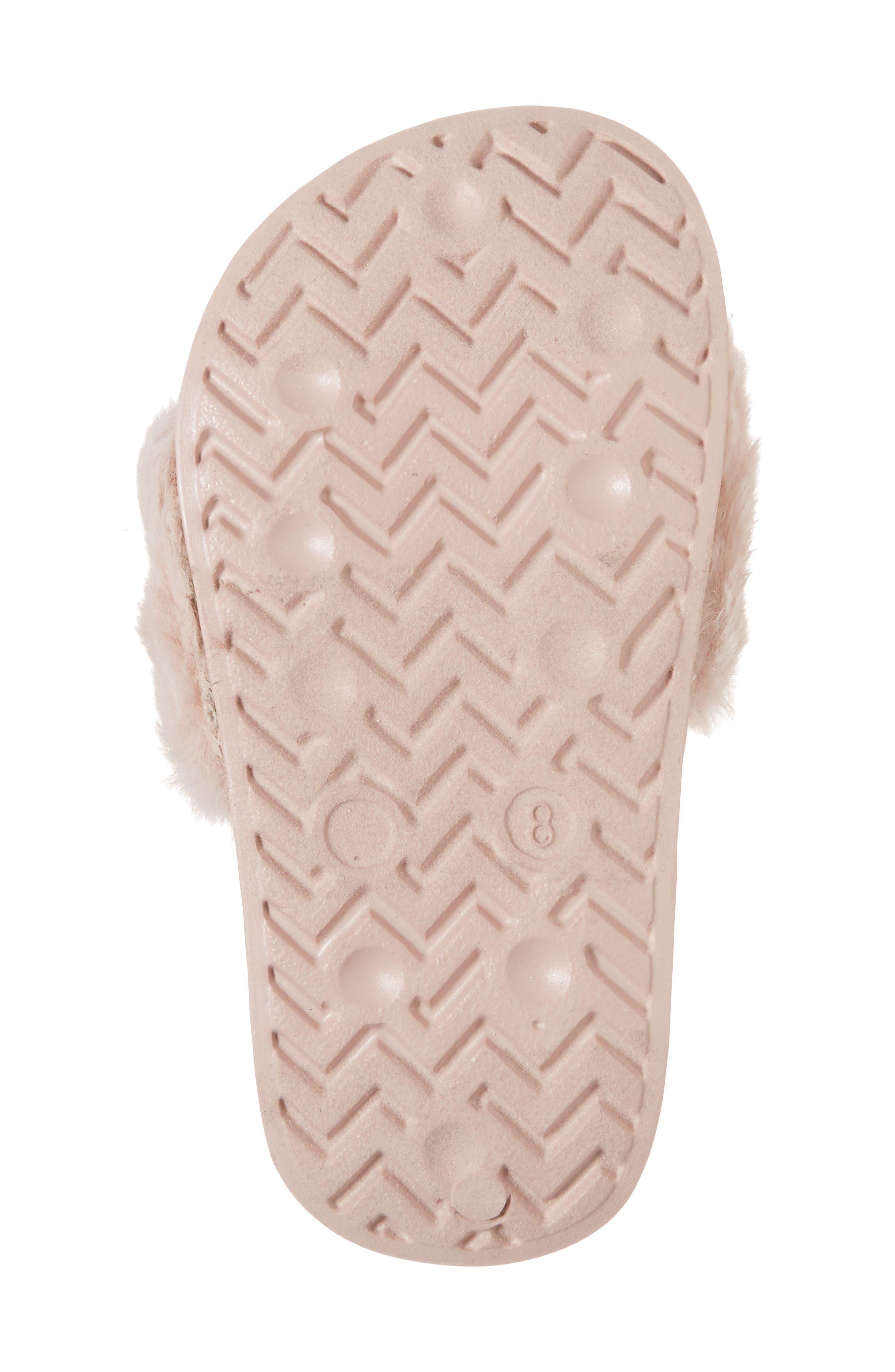 Mackie Faux Fur Sandal,                             Alternate thumbnail 6, color,                             654