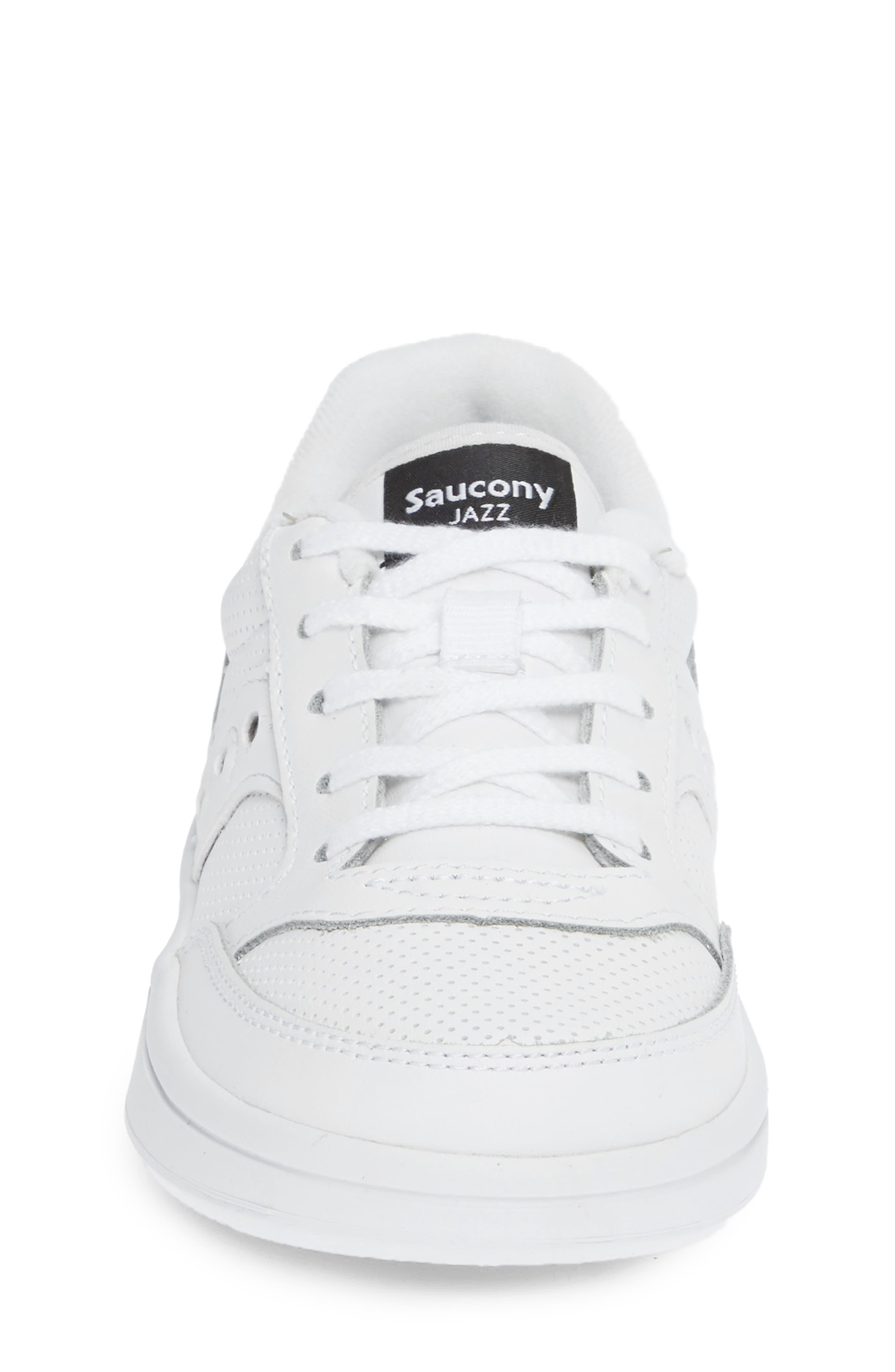 Jazz Court Sneaker,                             Alternate thumbnail 4, color,                             WHITE