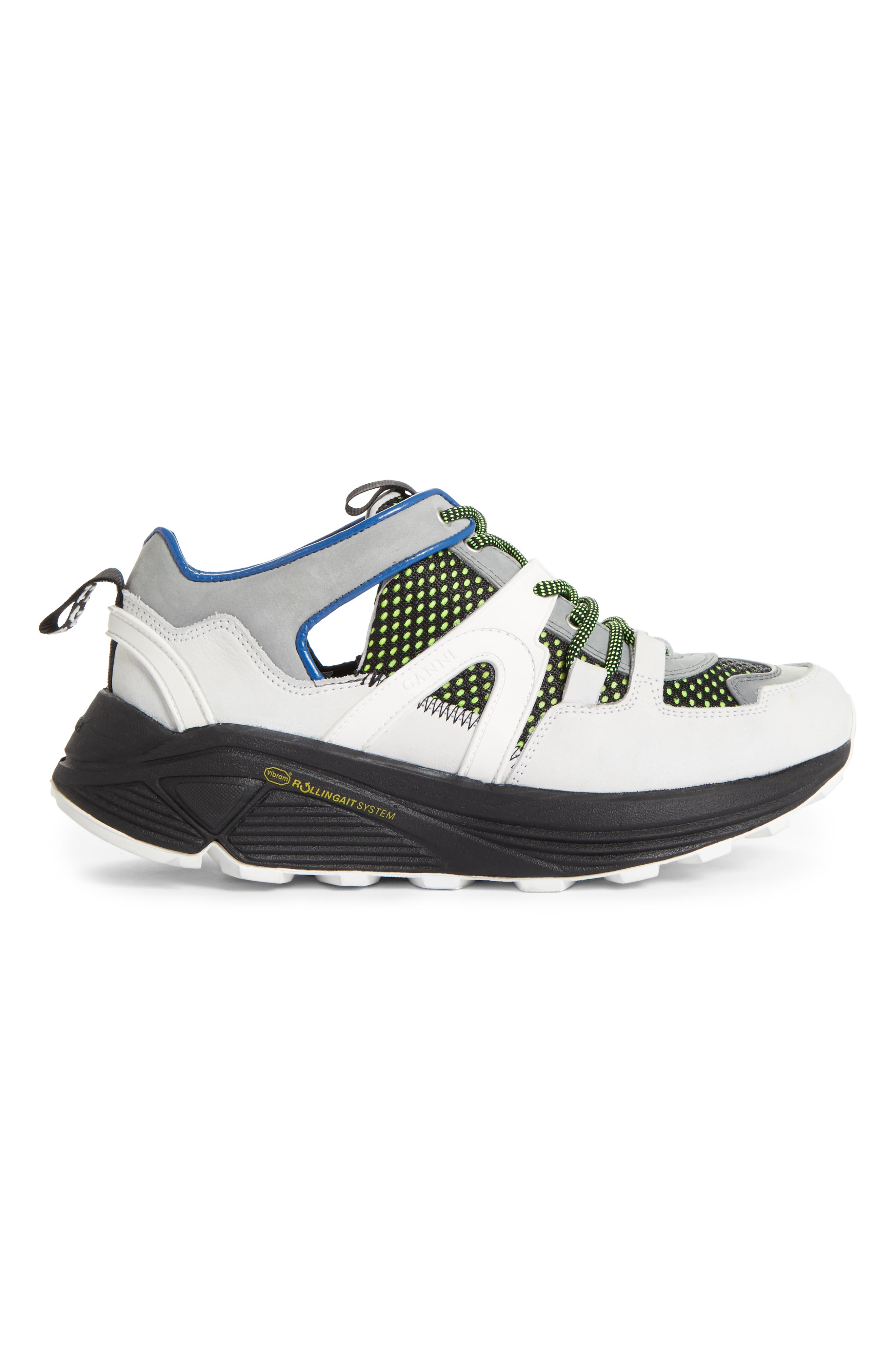 GANNI,                             Tech Sneaker,                             Alternate thumbnail 3, color,                             MULTICOLOUR 999