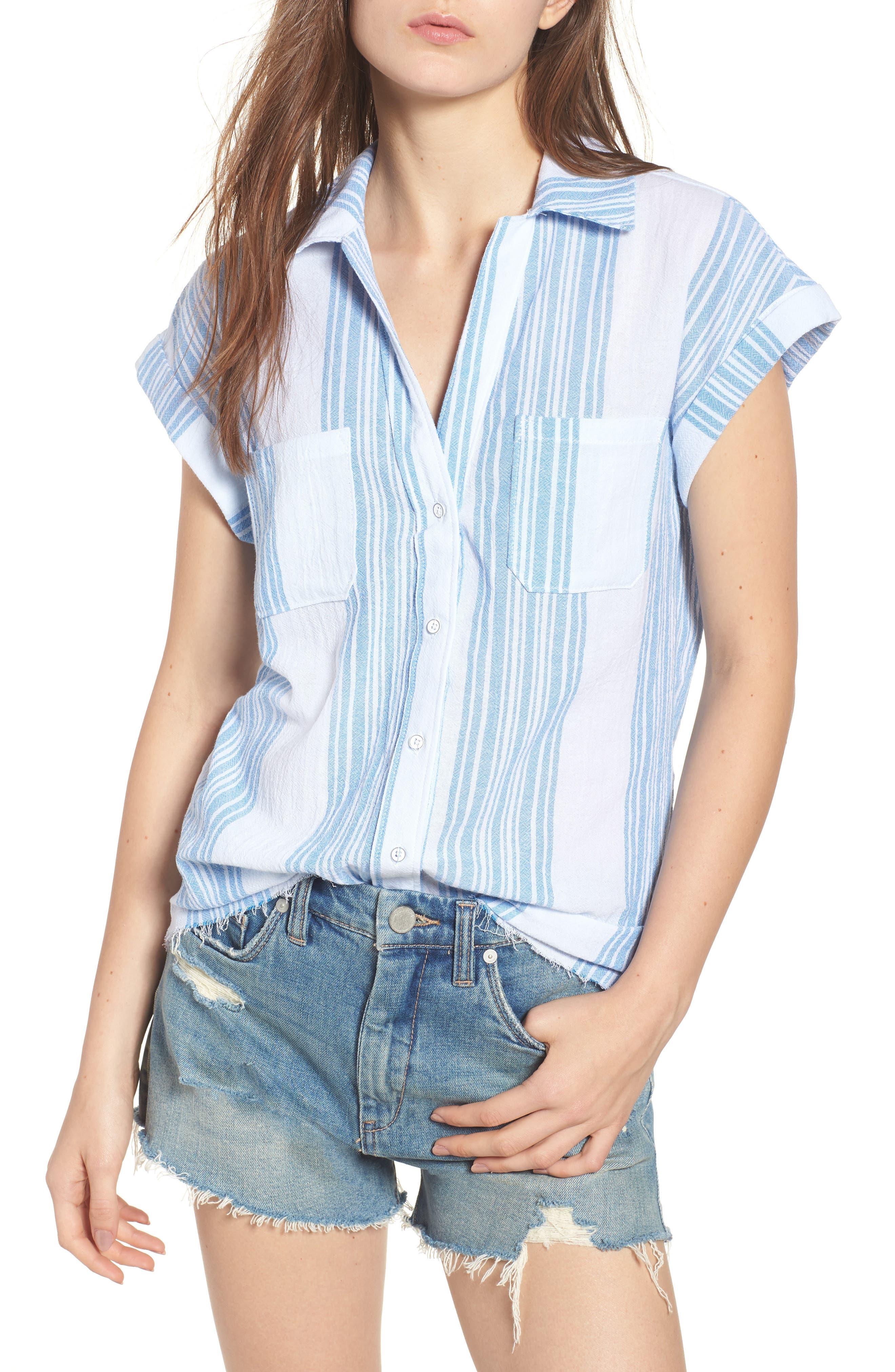 Stripe Camp Shirt,                             Main thumbnail 1, color,                             400