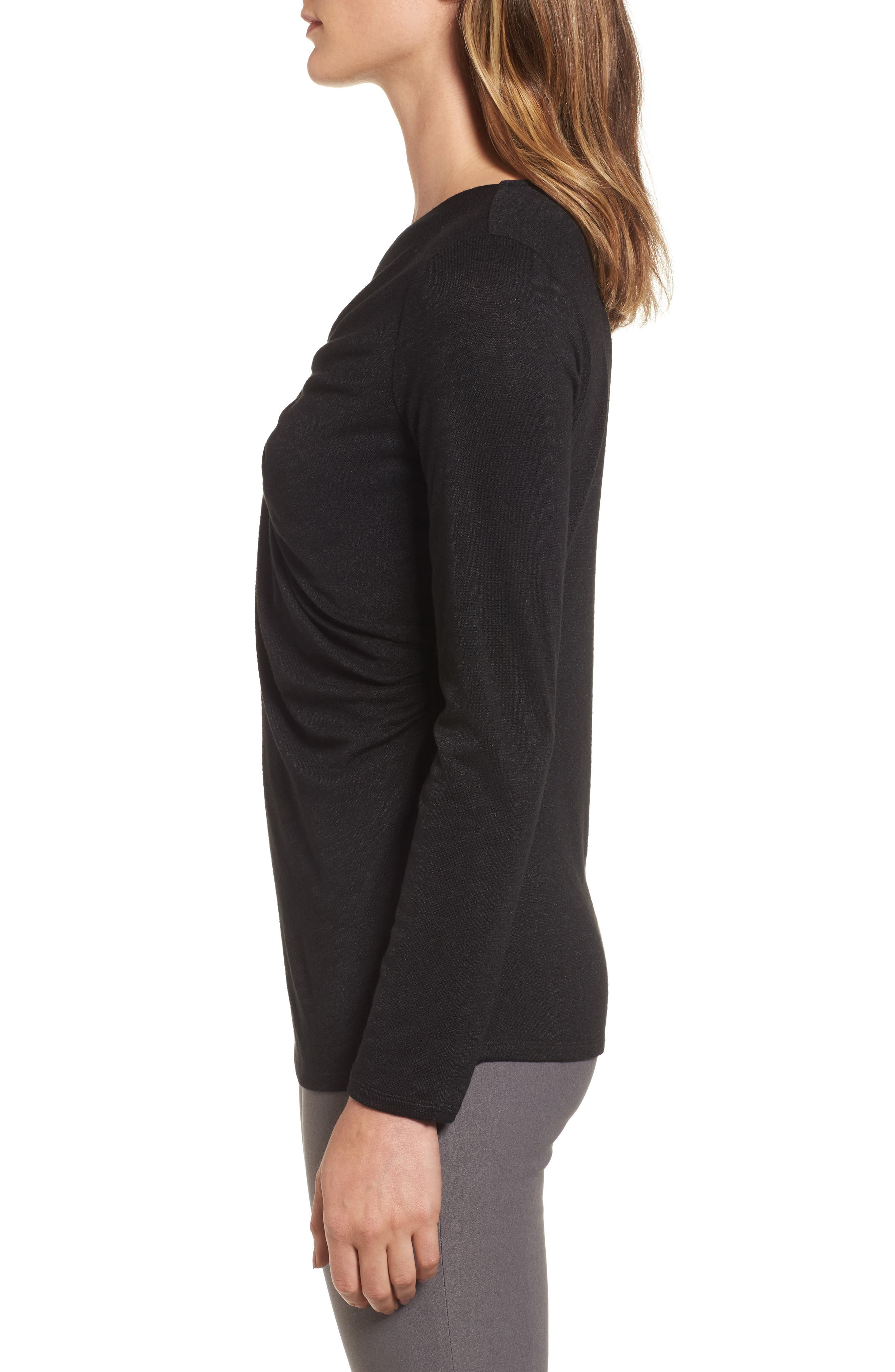 Every Occasion Drape Top,                             Alternate thumbnail 3, color,                             004