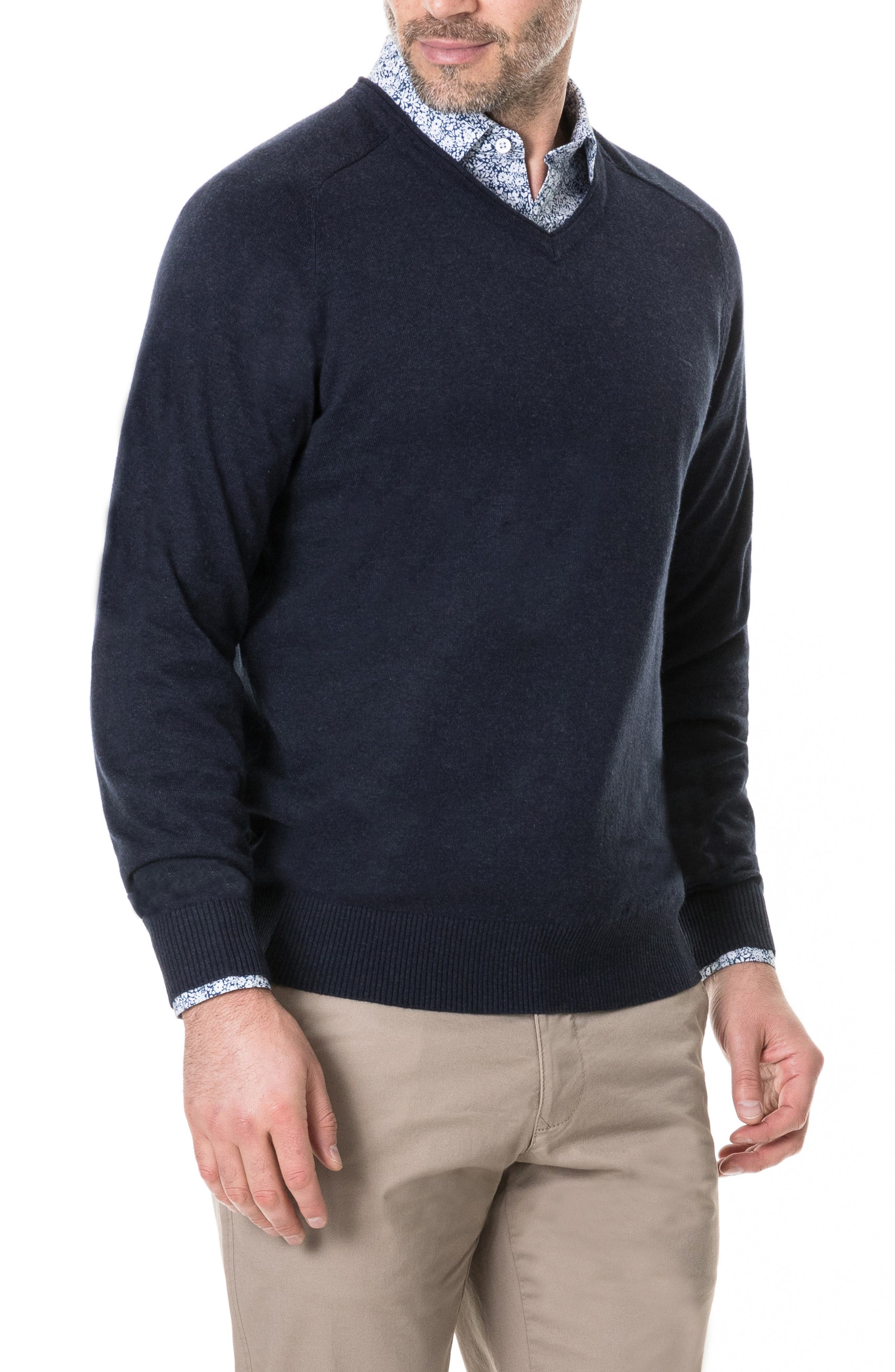 Arbors Cotton V-Neck Sweater,                             Alternate thumbnail 9, color,