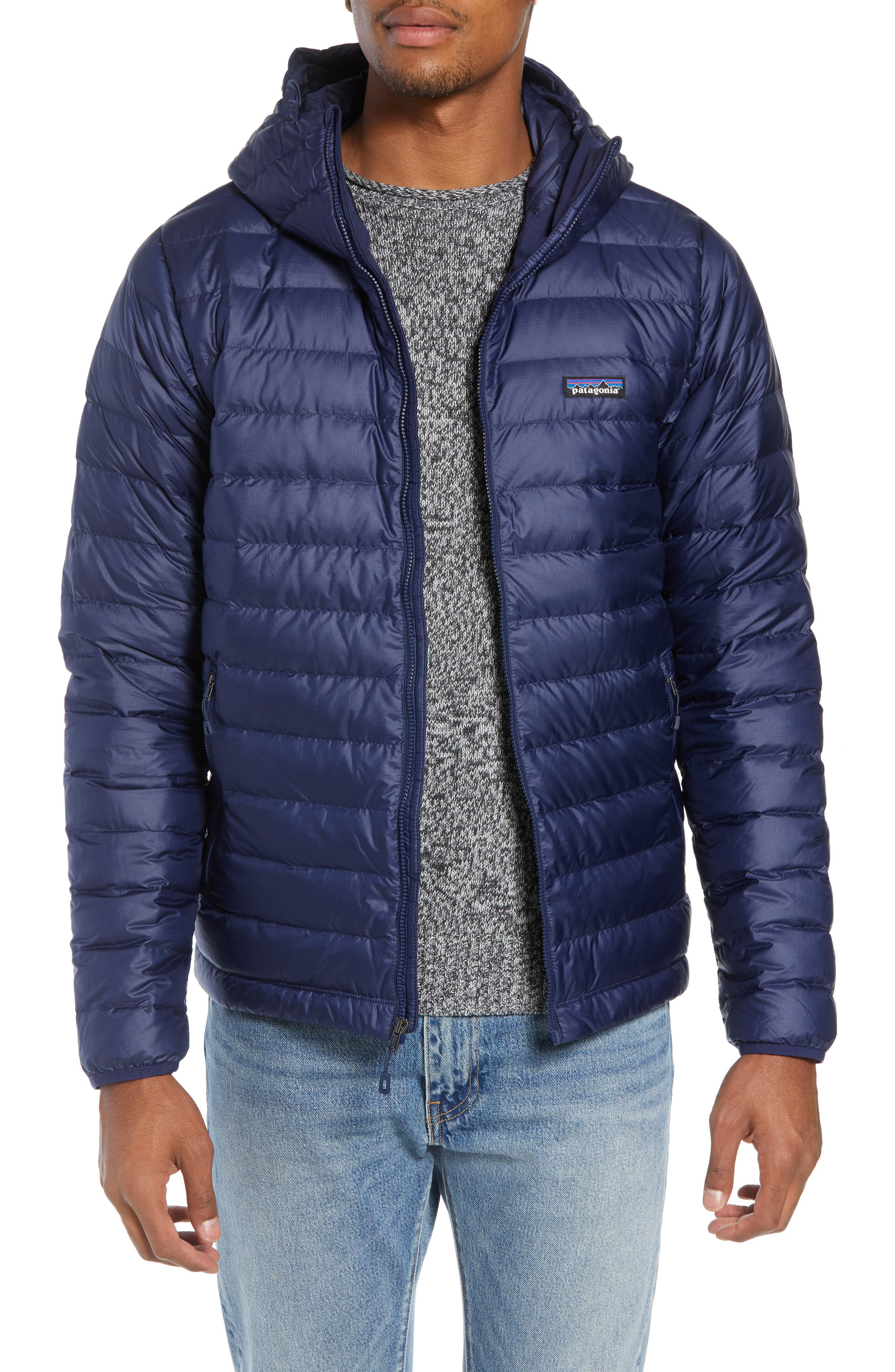 Packable Windproof & Water Resistant Goose Down Sweater Hooded Jacket,                             Main thumbnail 3, color,
