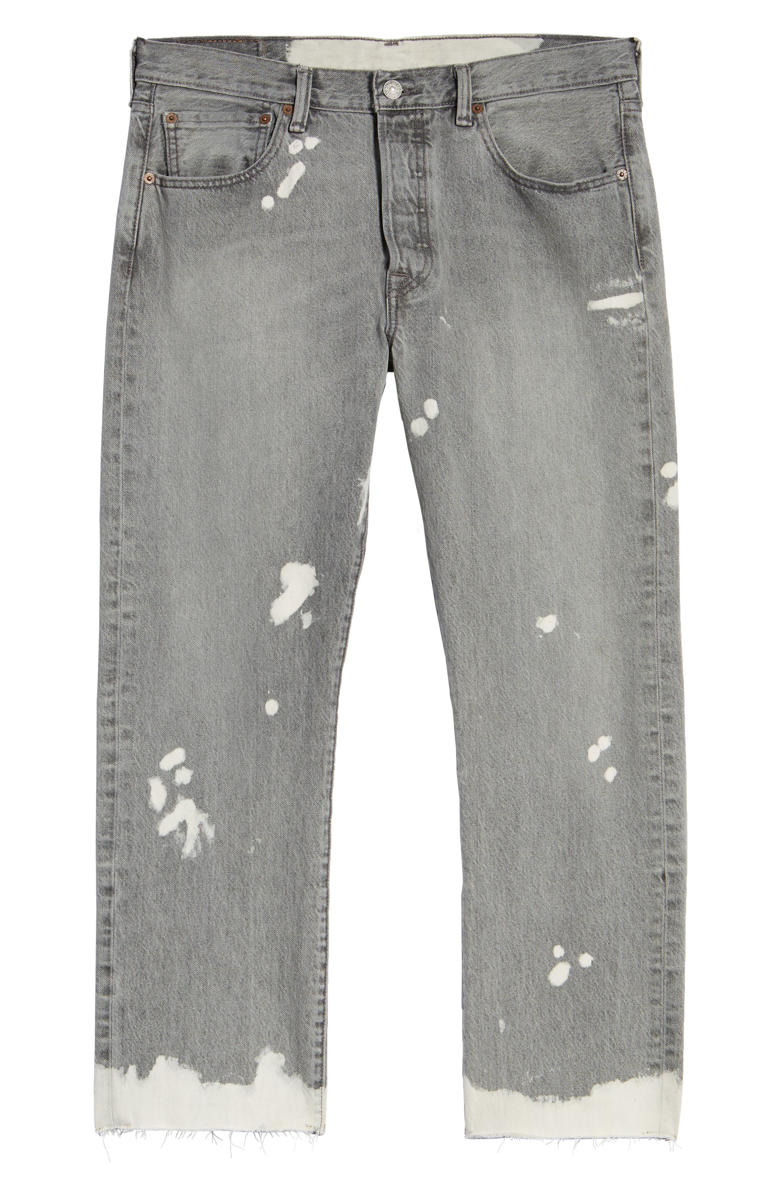 501<sup>™</sup> Straight Leg Jeans,                             Alternate thumbnail 6, color,                             020