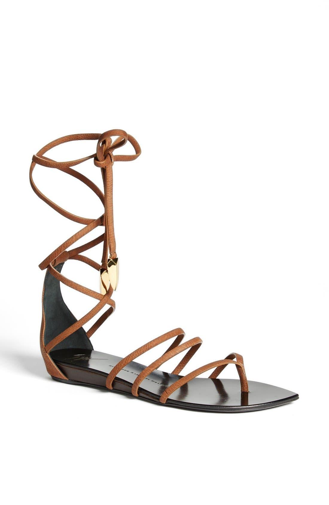 Ankle Wrap Sandal,                         Main,                         color, 200