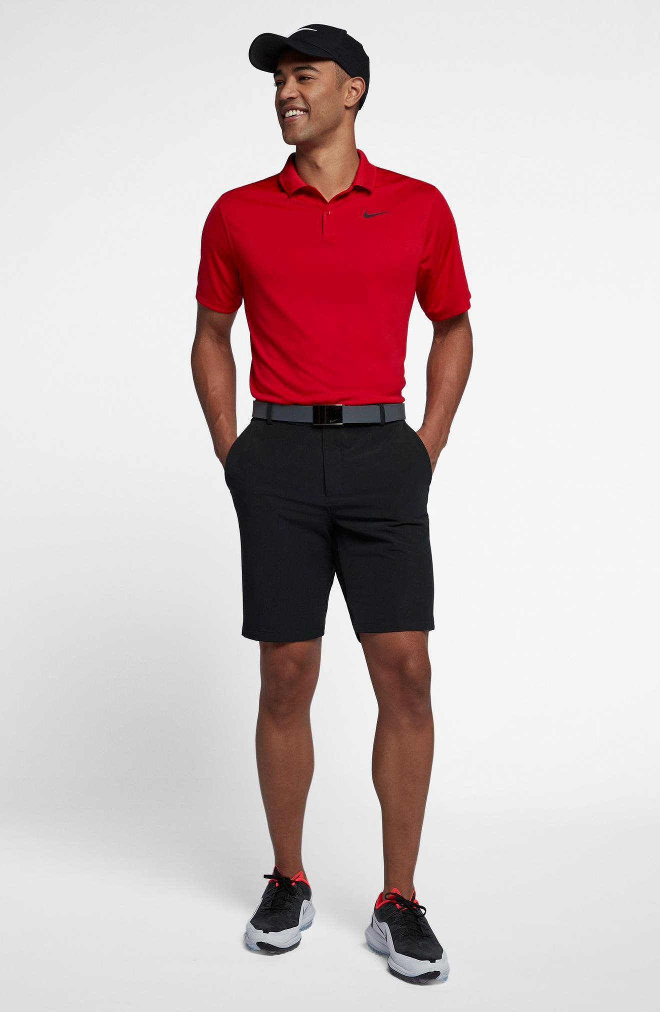 Dry Victory Golf Polo,                             Alternate thumbnail 5, color,                             UNIVERSITY RED/ BLACK