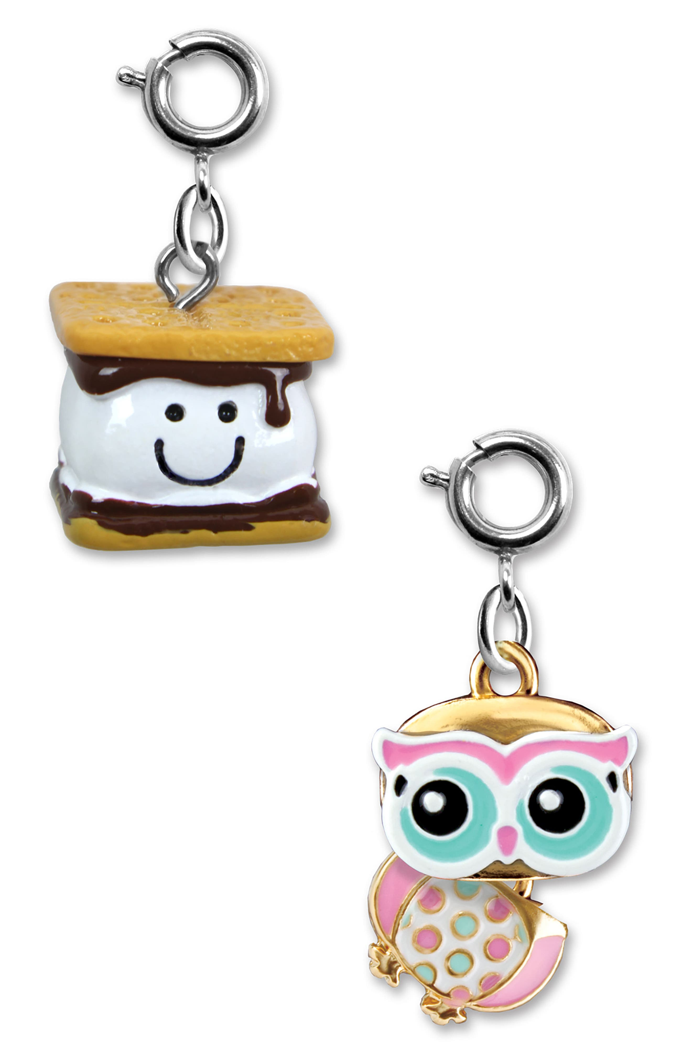 CHARM IT!<sup>®</sup> 2-Pack S'mores & Owl Charms,                             Alternate thumbnail 2, color,                             MULTI