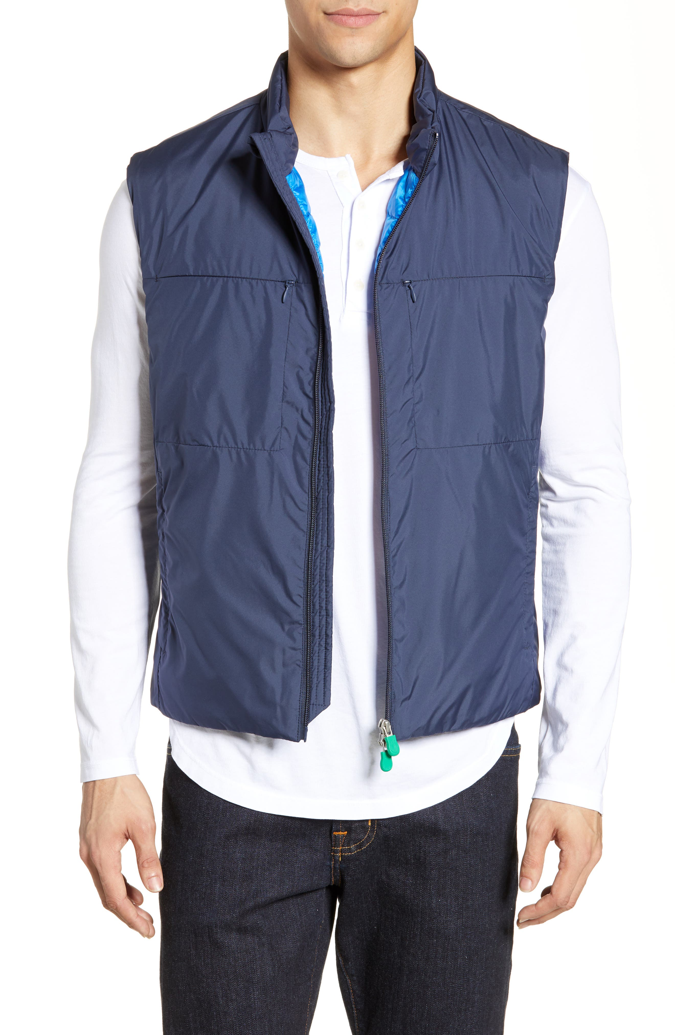 Save The Duck Recycled Polyester Vest, Blue