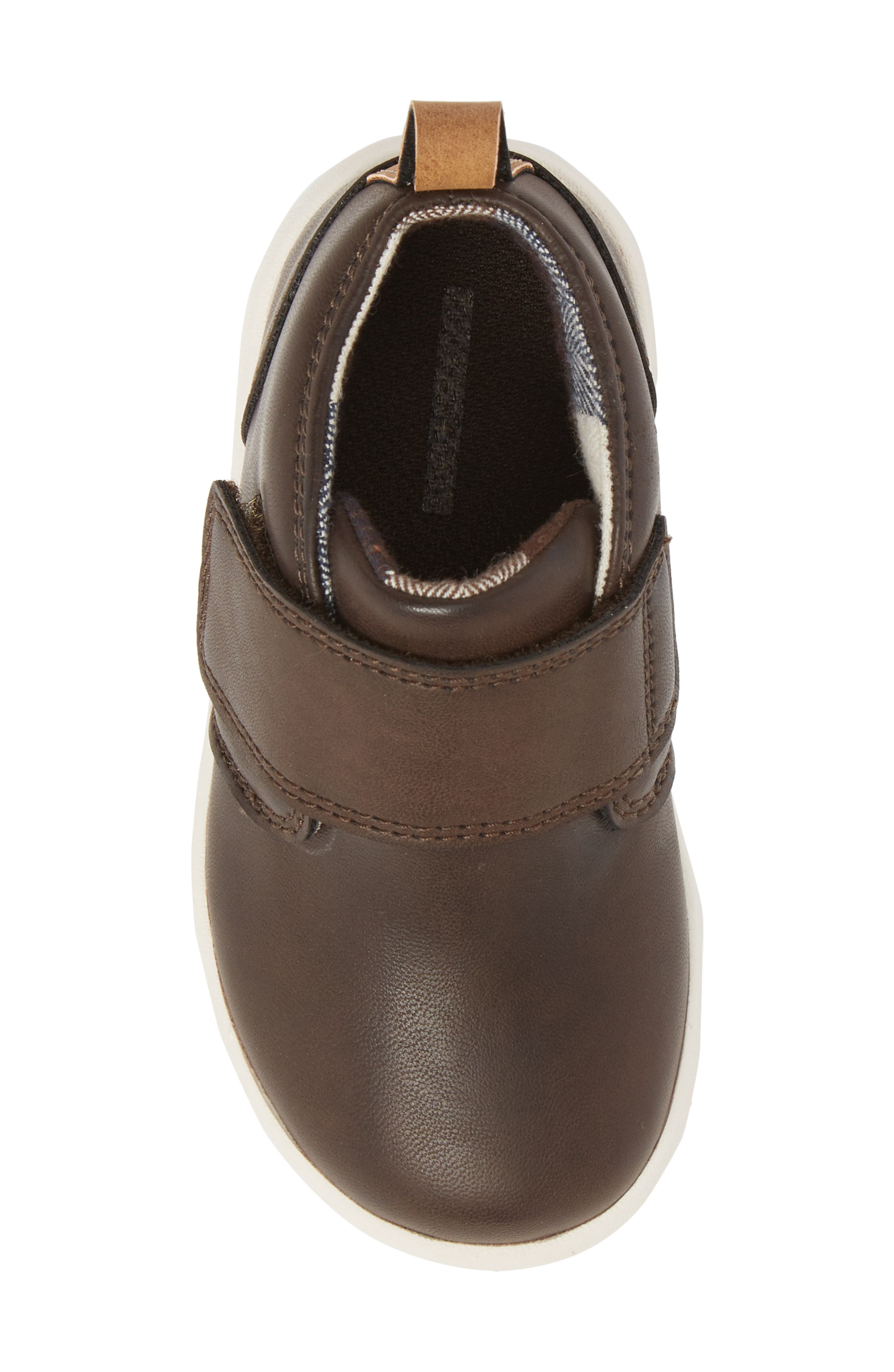 Oliver Low Bootie Sneaker,                             Alternate thumbnail 5, color,                             CHOCOLATE FAUX LEATHER