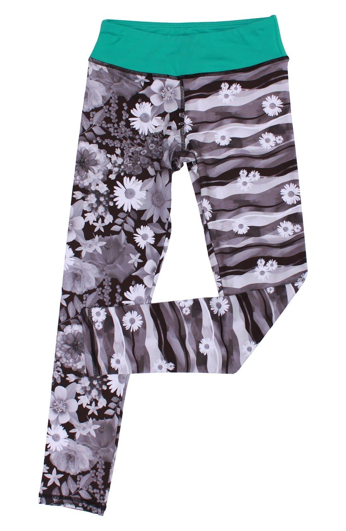 Splits Mixed Print Leggings,                             Main thumbnail 1, color,                             030