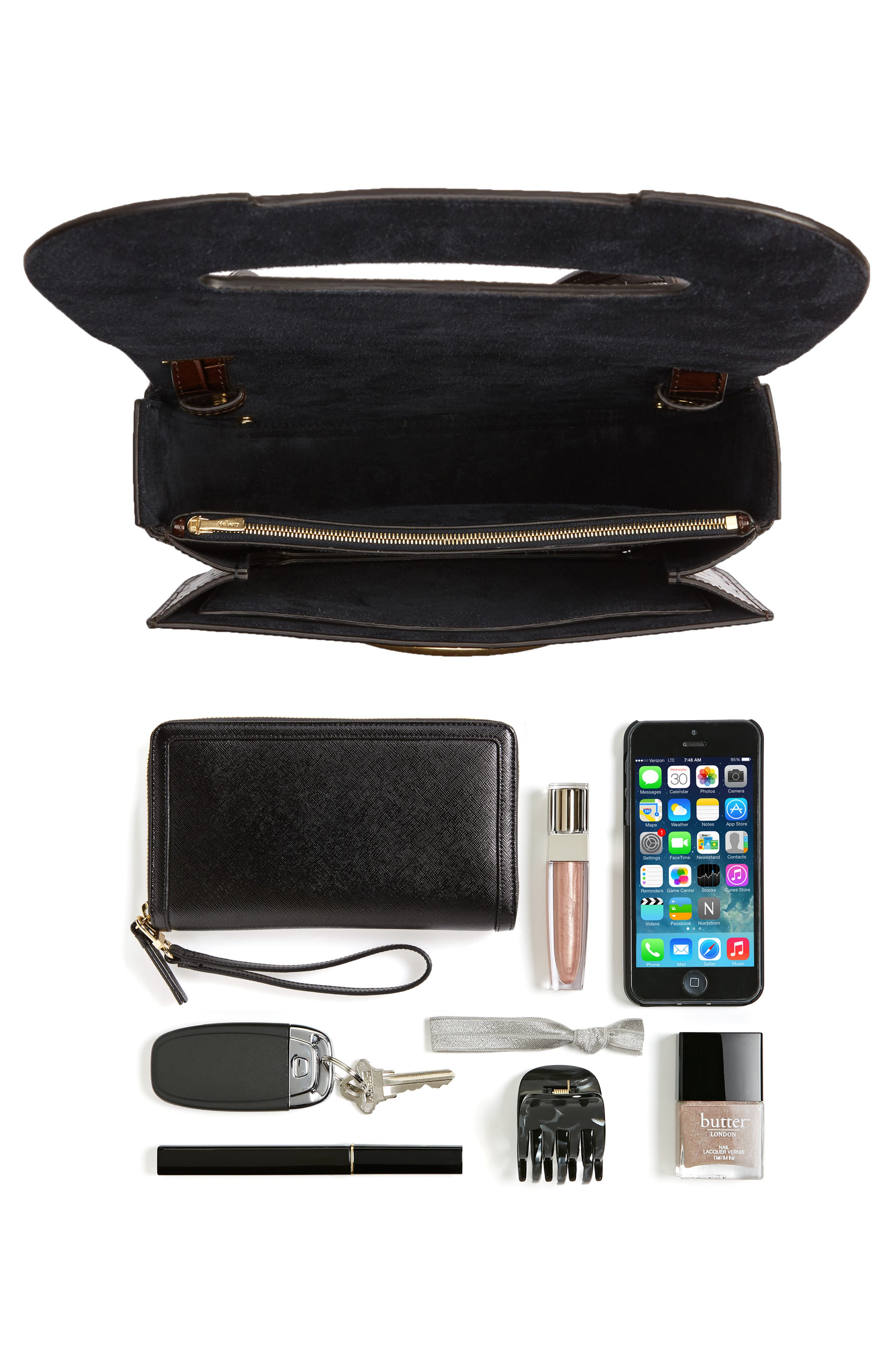 MULBERRY,                             Selwood Leather Saddle Bag,                             Alternate thumbnail 7, color,                             200