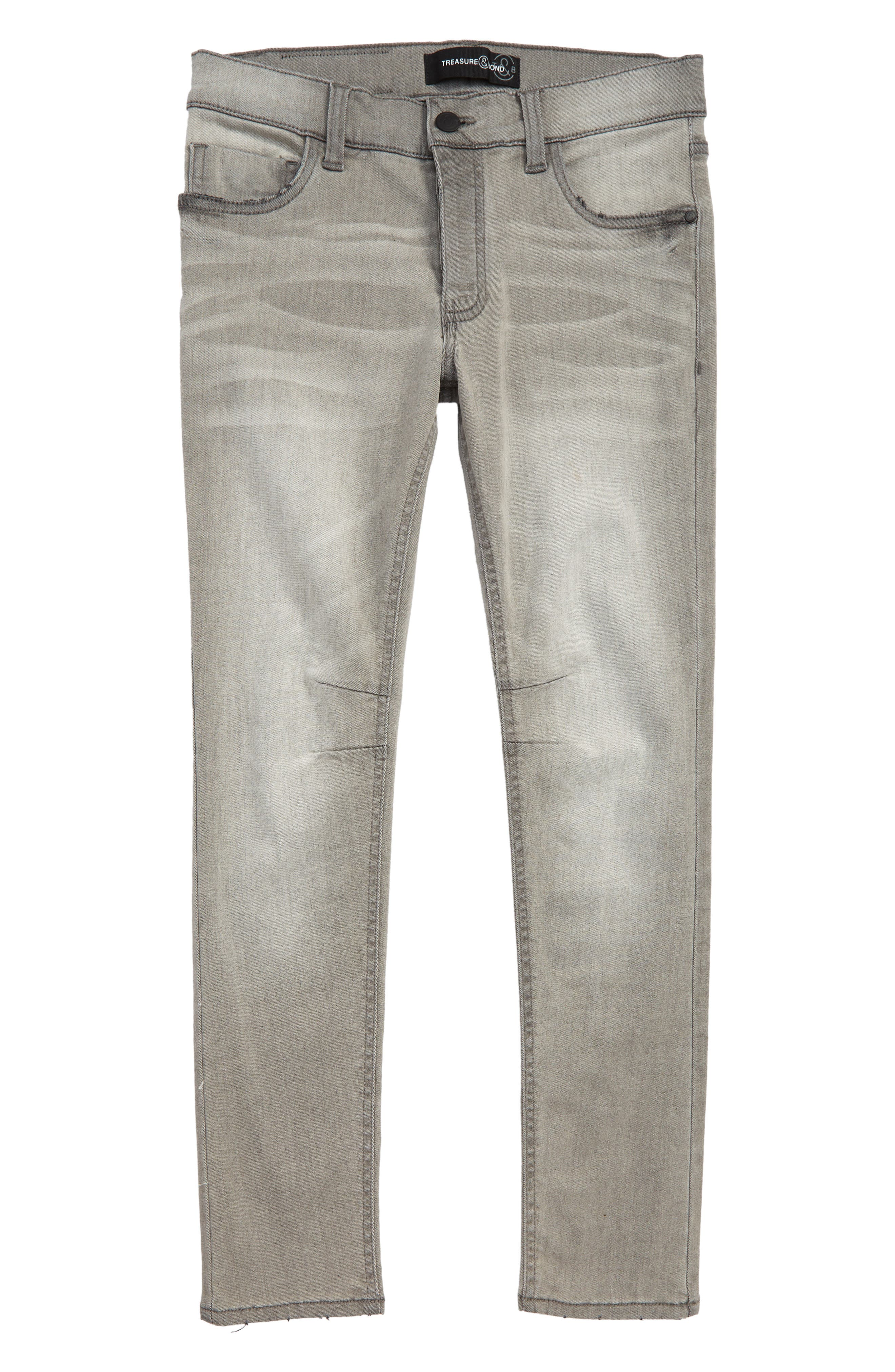 Tapered Fit Jeans,                             Main thumbnail 1, color,                             GREY COOL WASH