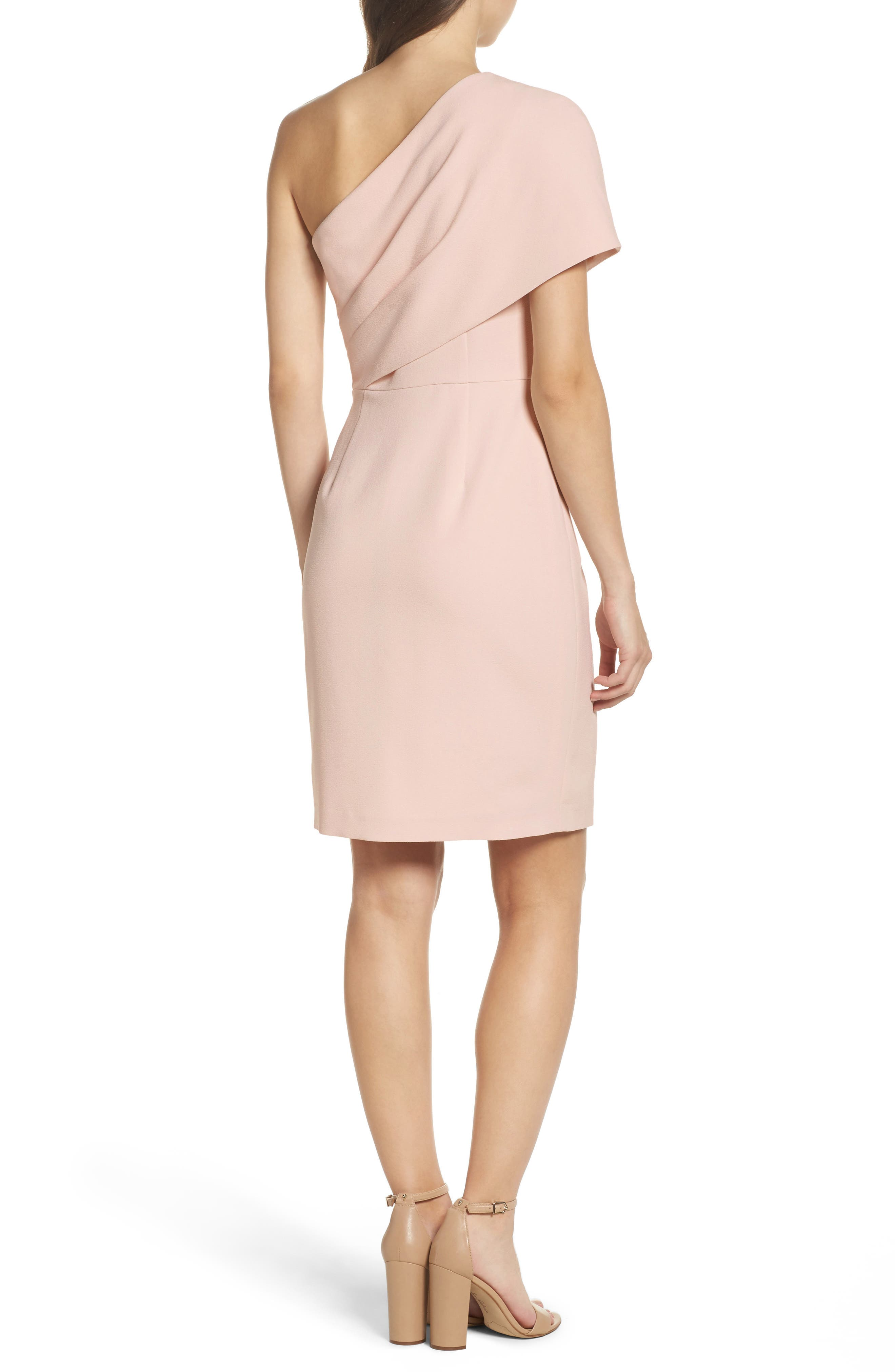 One-Shoulder Body-Con Dress,                             Alternate thumbnail 2, color,                             684