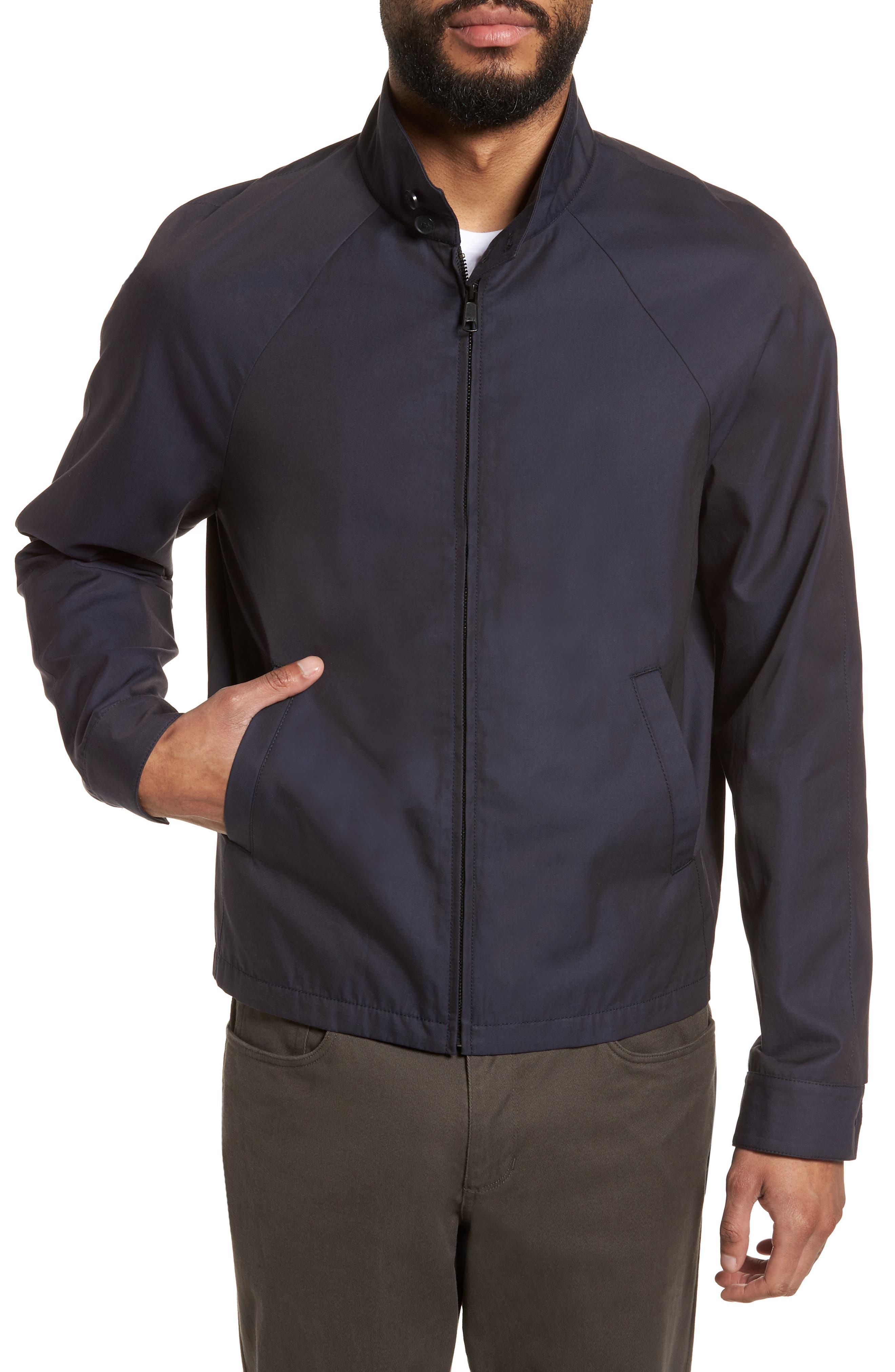 Regular Fit Jacket,                             Alternate thumbnail 4, color,                             NAVY