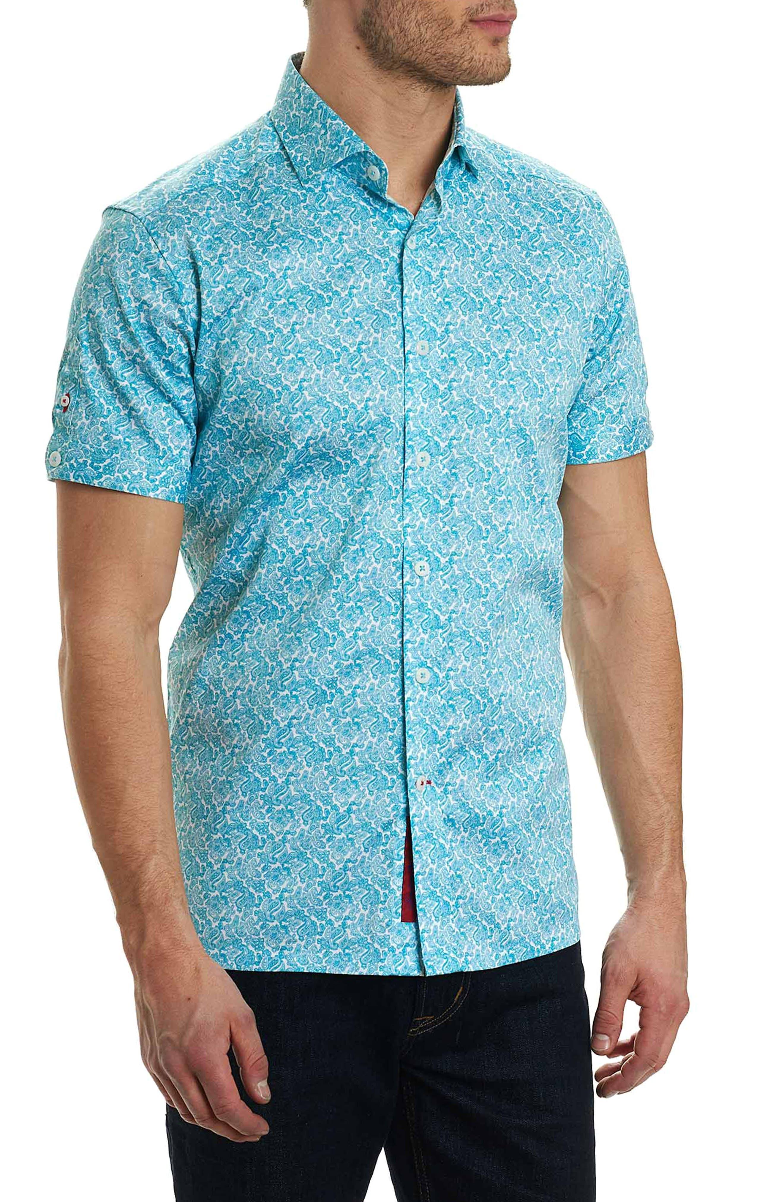 Thad Tailored Fit Paisley Sport Shirt,                             Main thumbnail 2, color,