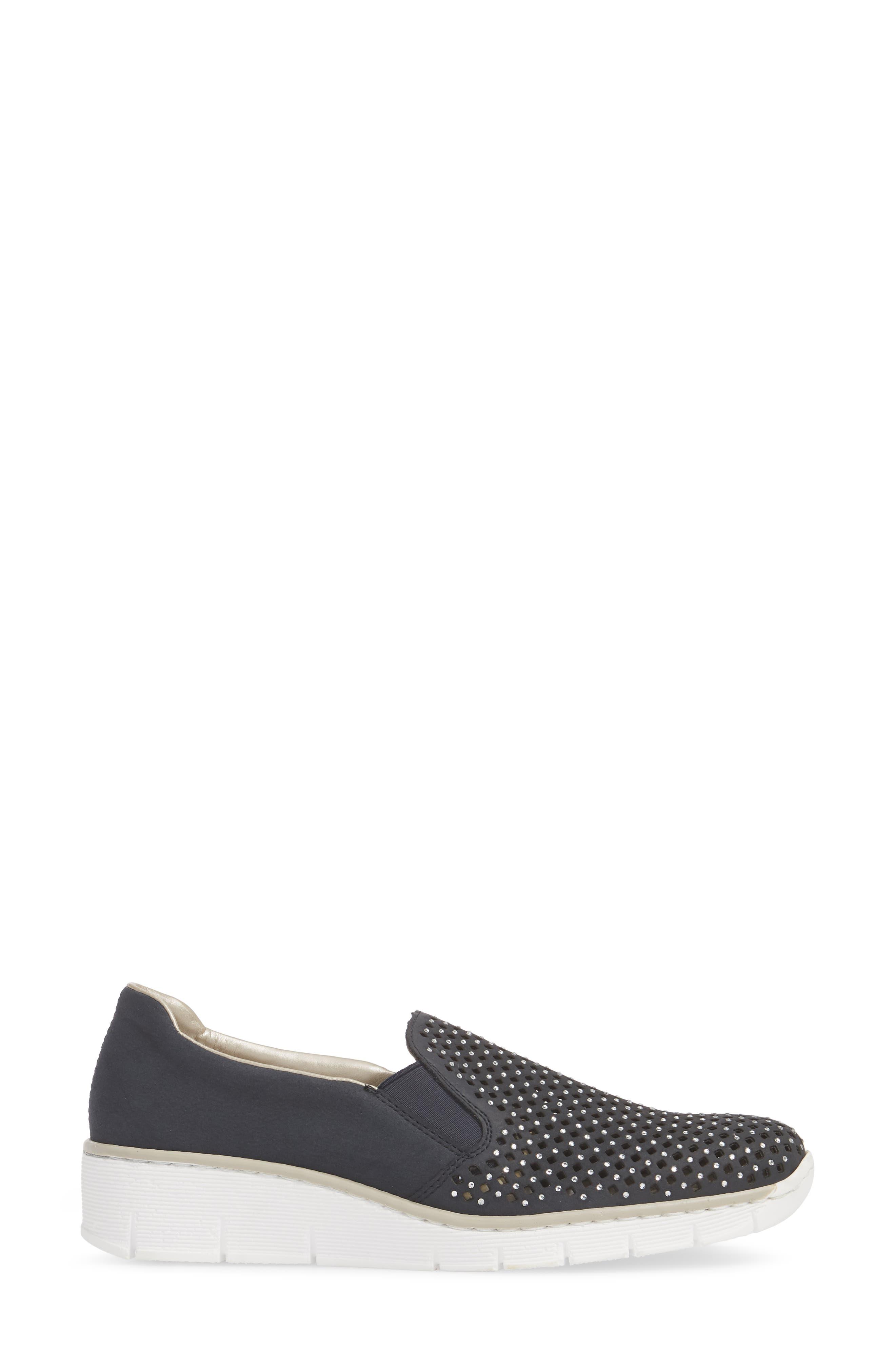 Doris A6 Wedge Sneaker,                             Alternate thumbnail 3, color,                             401