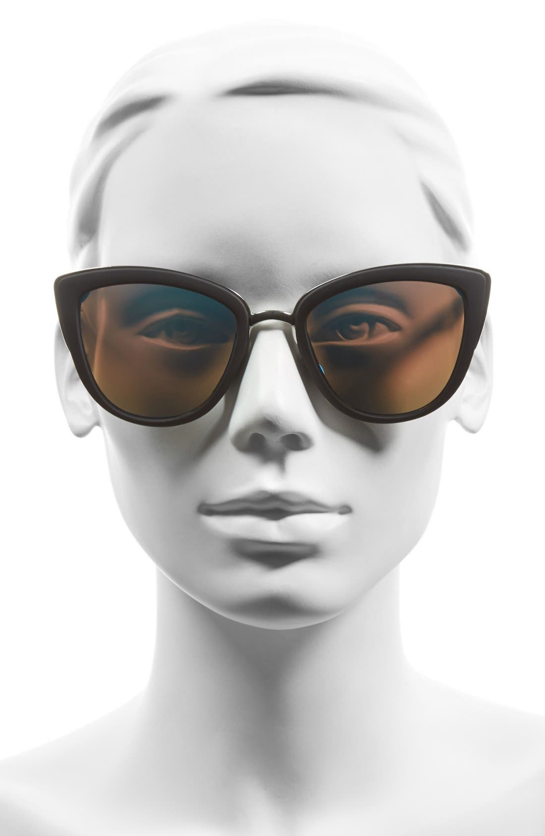 'My Girl' 50mm Cat Eye Sunglasses,                             Alternate thumbnail 3, color,                             001