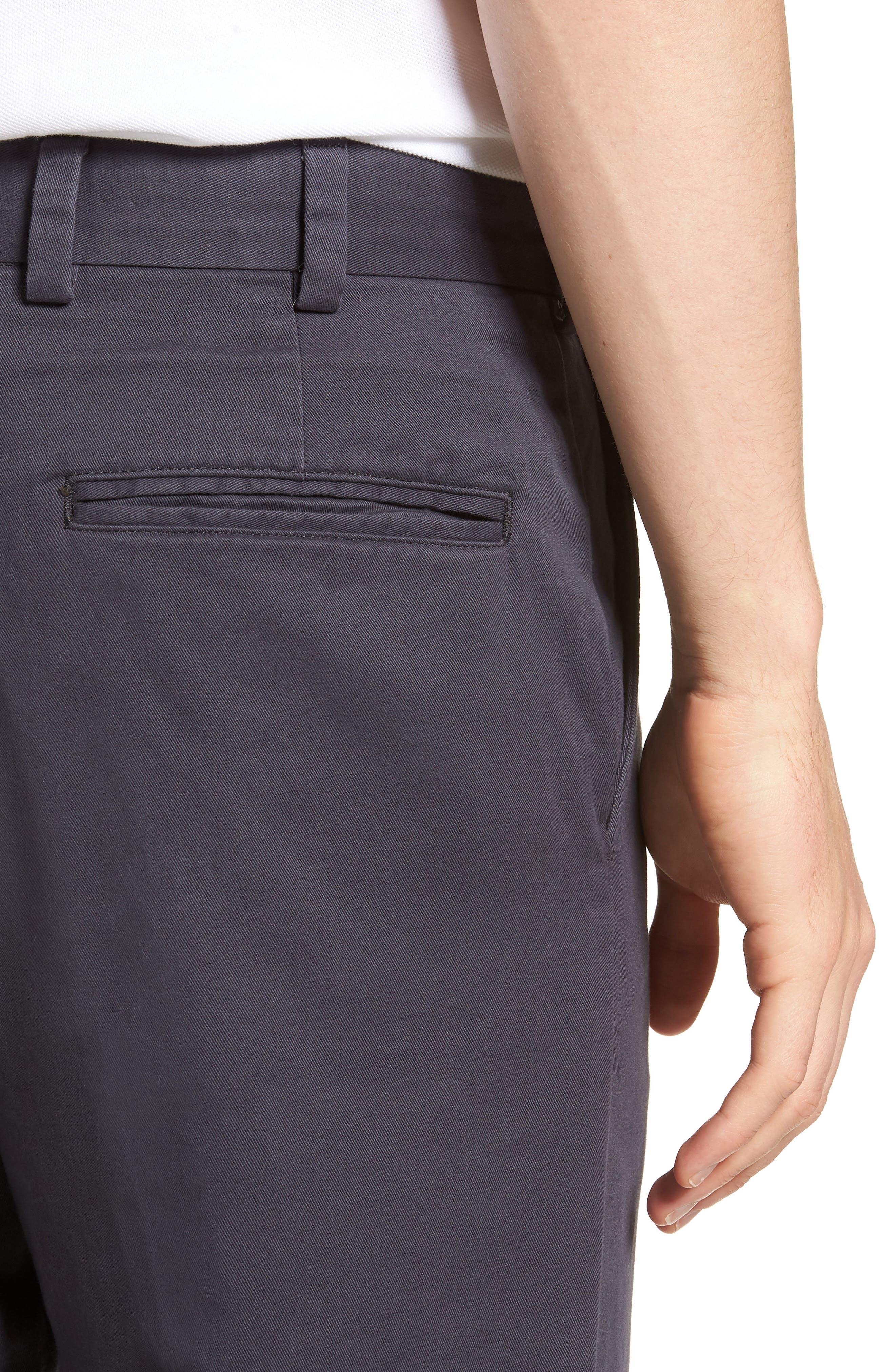 Straight Fit Vintage Twill Pants,                             Alternate thumbnail 4, color,                             410