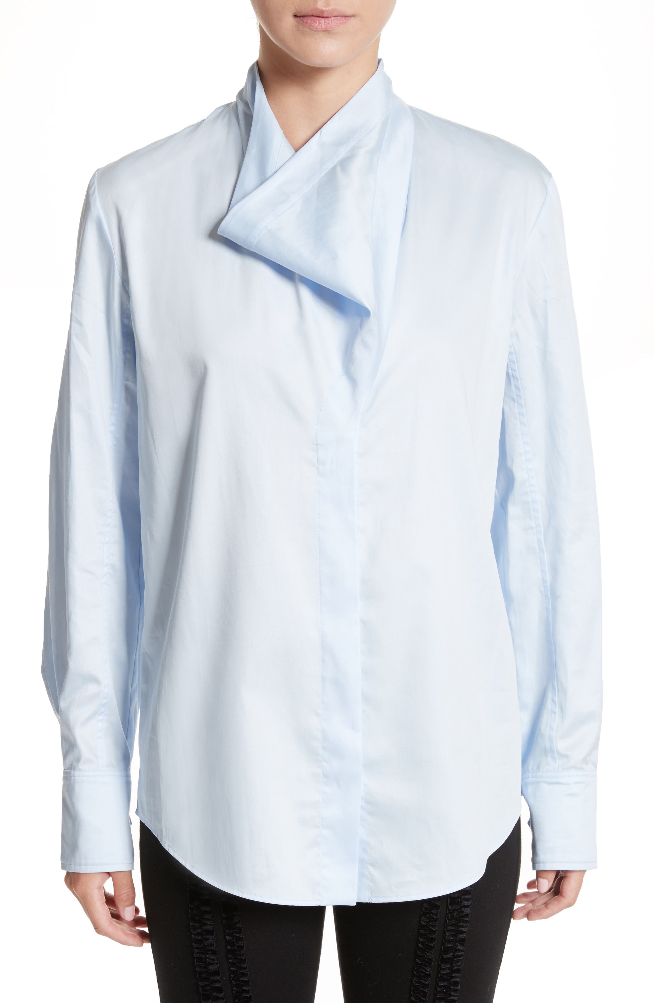 Damiane Cotton Poplin Shirt,                             Main thumbnail 1, color,