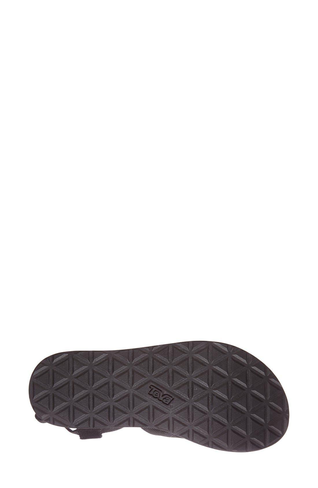 TEVA,                             'Original' Flatform Sandal,                             Alternate thumbnail 4, color,                             001