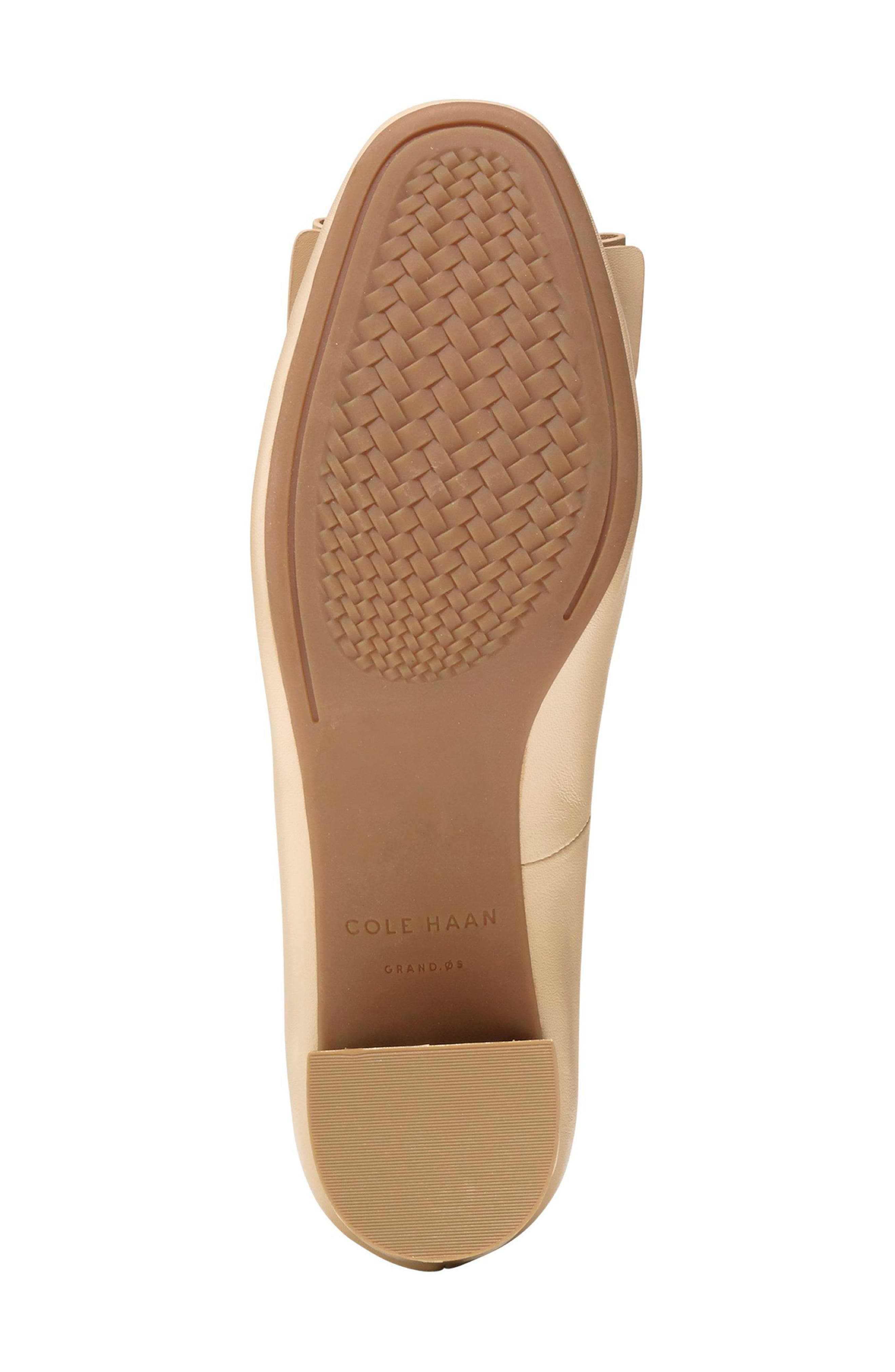 Tali Bow Pump,                             Alternate thumbnail 5, color,                             NUDE LEATHER