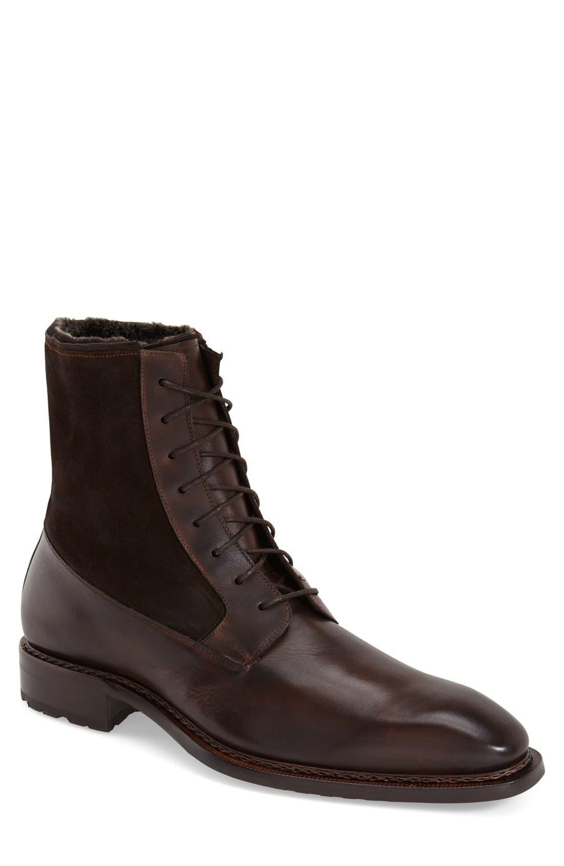 'Luzern' Genuine Shearling Boot,                             Main thumbnail 1, color,