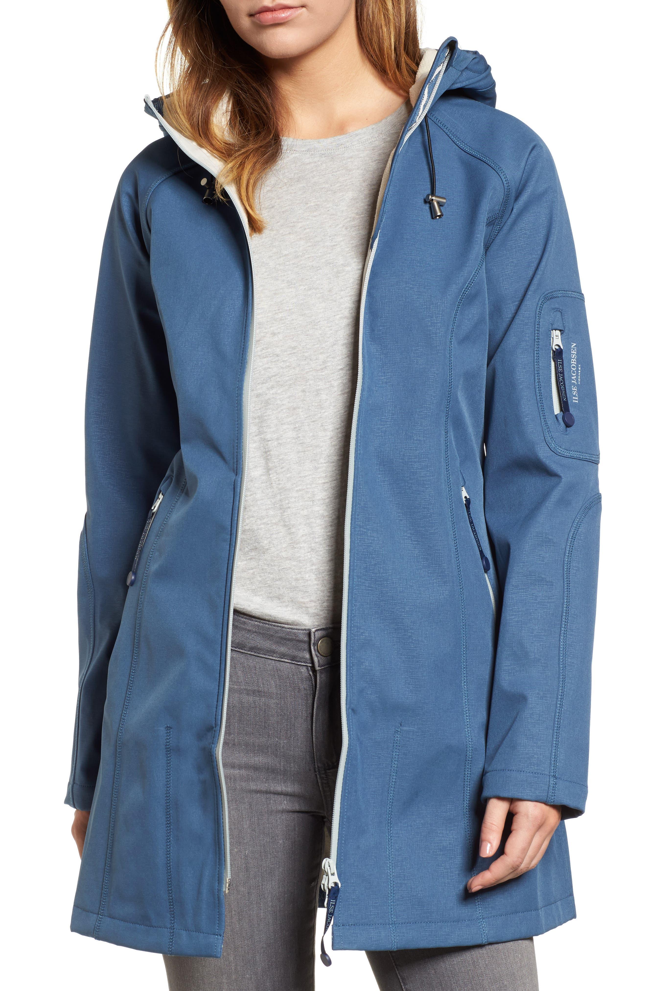 Regular Fit Hooded Raincoat,                             Main thumbnail 1, color,                             400