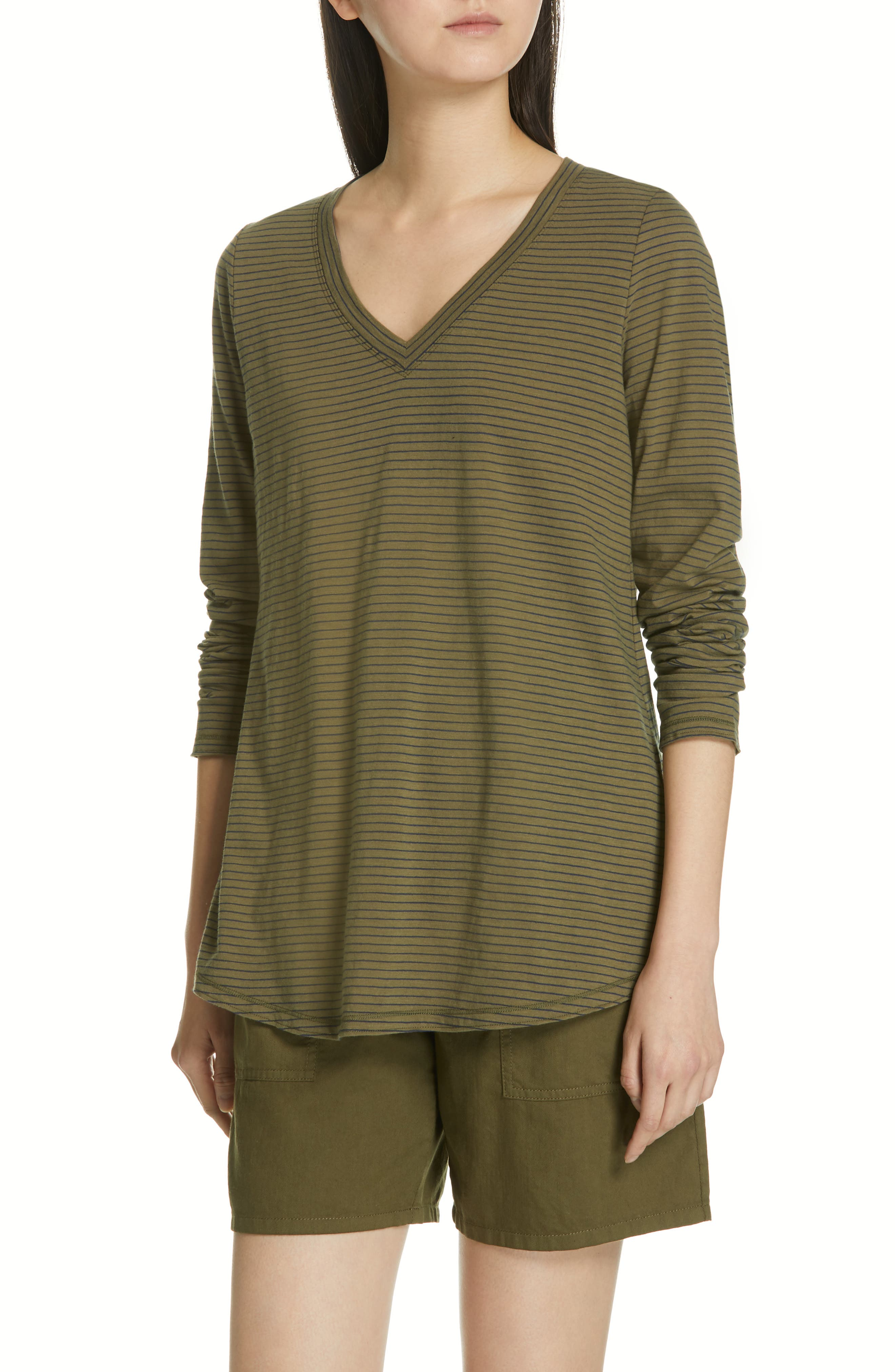 Eileen Fisher Organic Cotton Top, Green