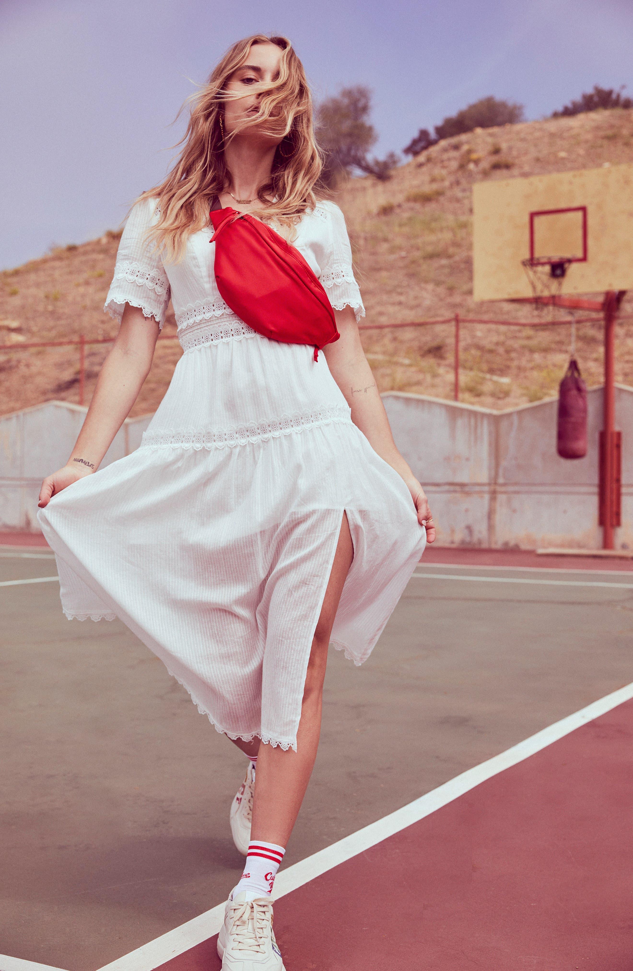 ASTR THE LABEL,                             Ari Midi Dress,                             Alternate thumbnail 4, color,                             WHITE