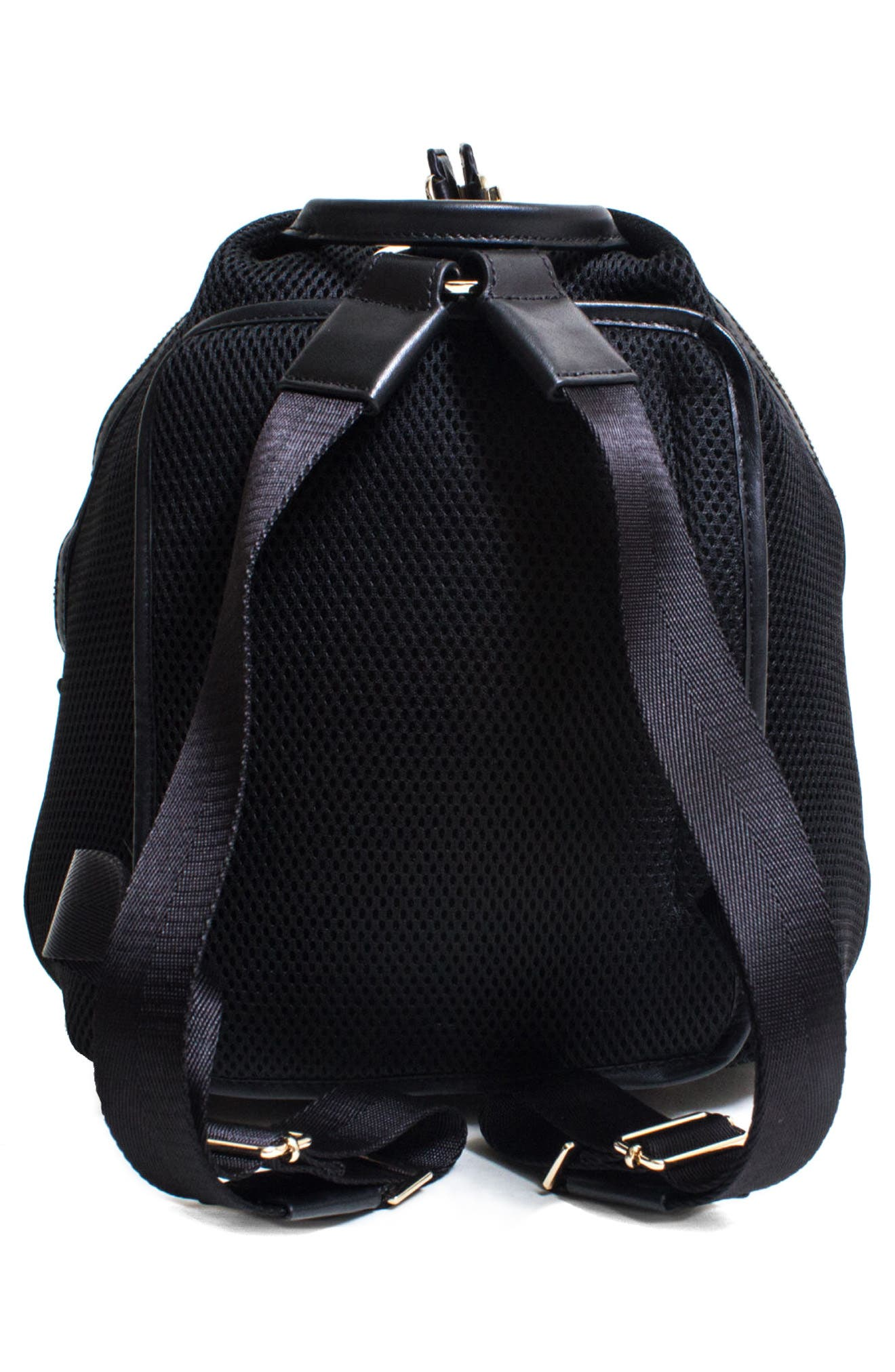 Dance 2 Mesh with Leather Trim Backpack,                             Alternate thumbnail 3, color,                             001