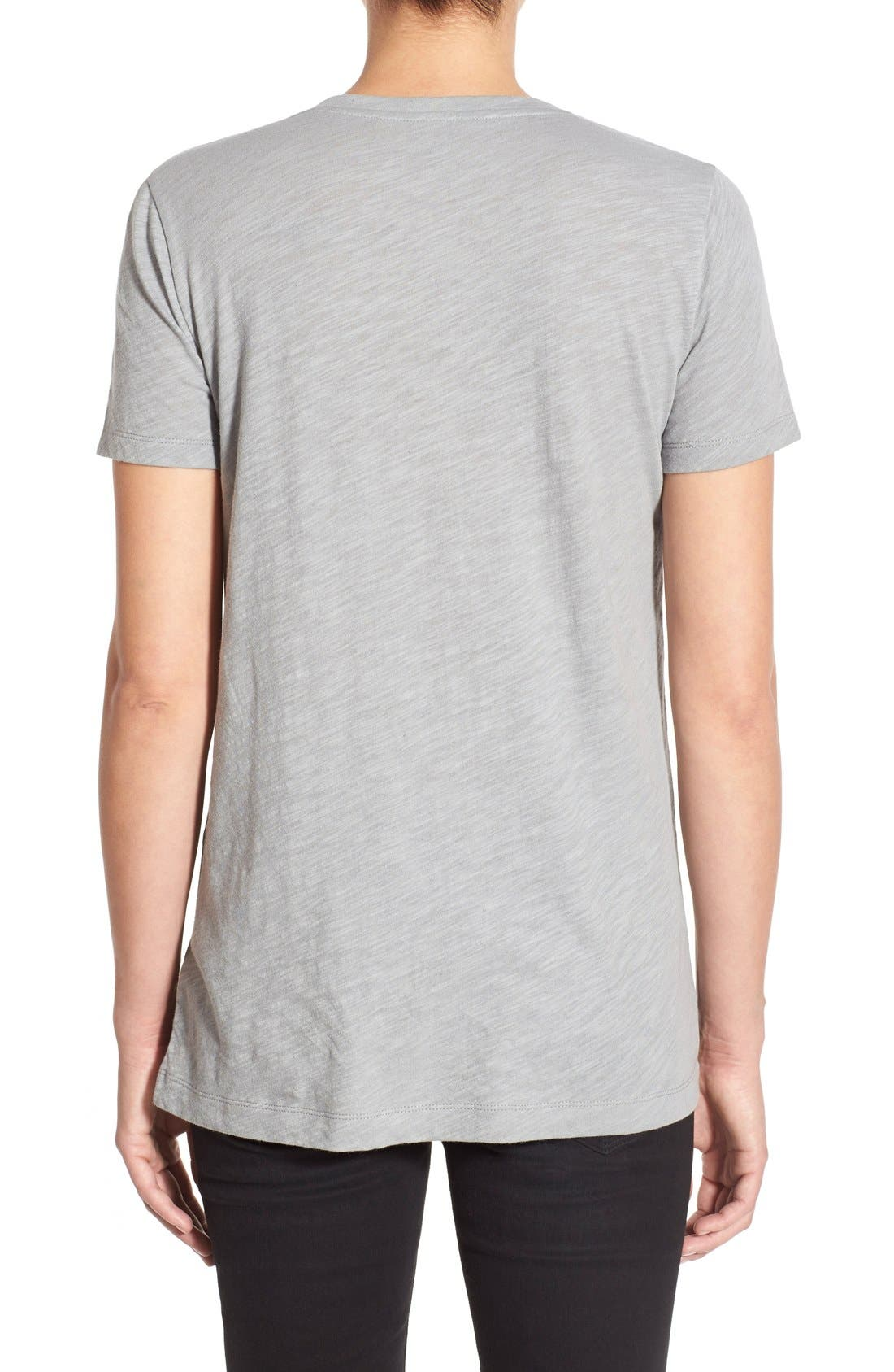 Whisper Cotton V-Neck Pocket Tee,                             Alternate thumbnail 94, color,