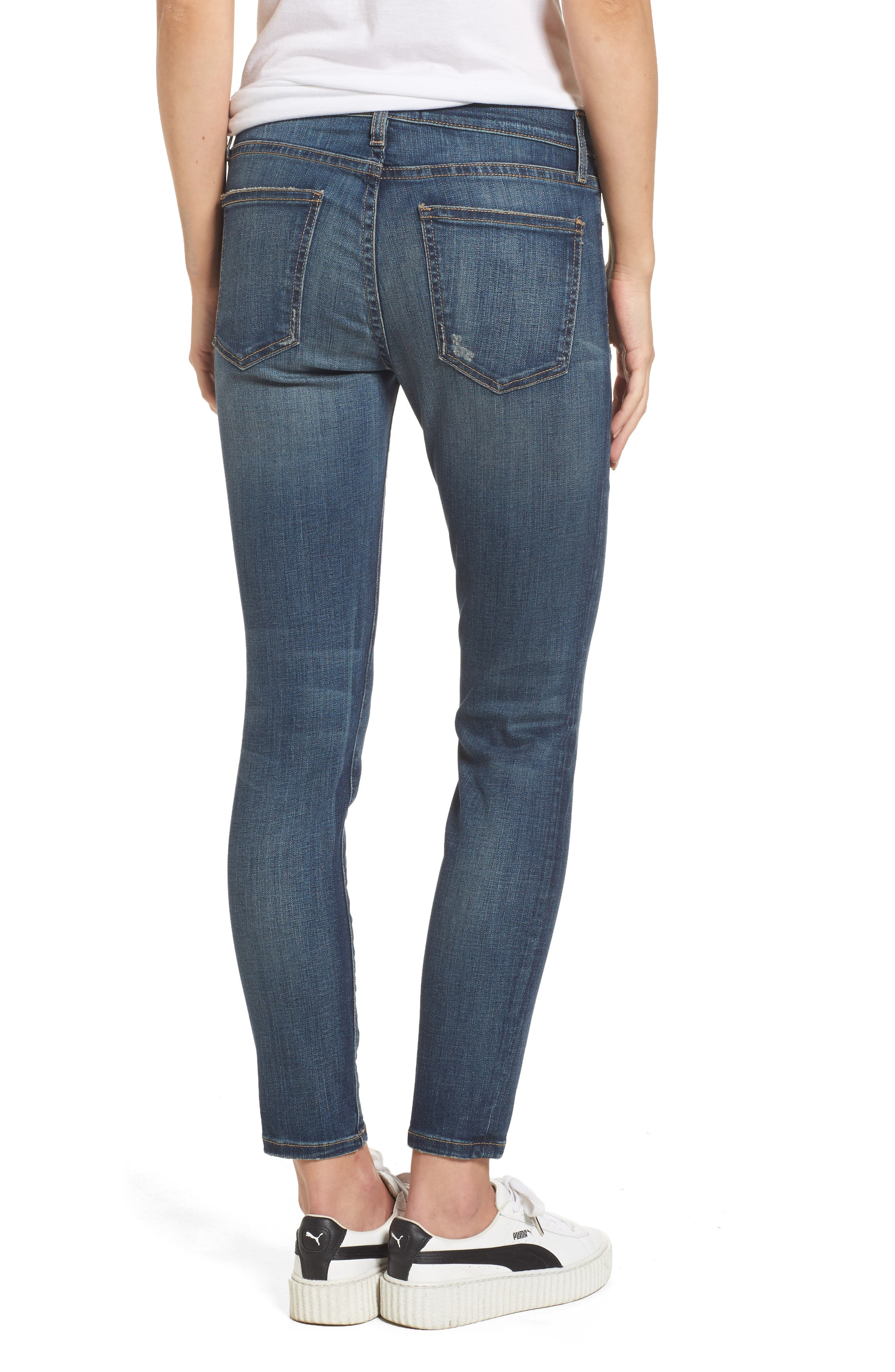 'The Stiletto' Stretch Jeans,                             Alternate thumbnail 5, color,