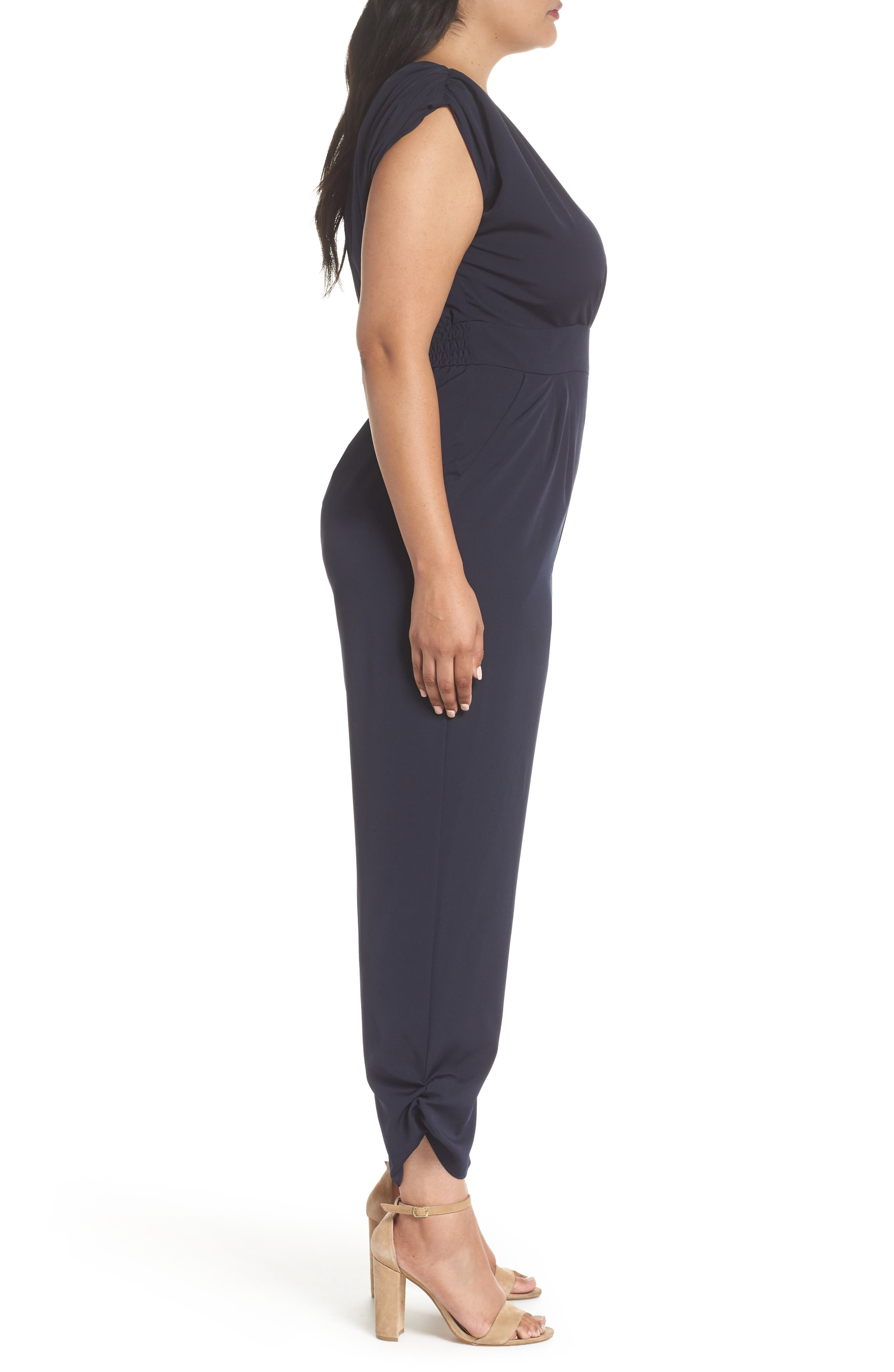 Ruched Ankle Jumpsuit,                             Alternate thumbnail 10, color,                             410